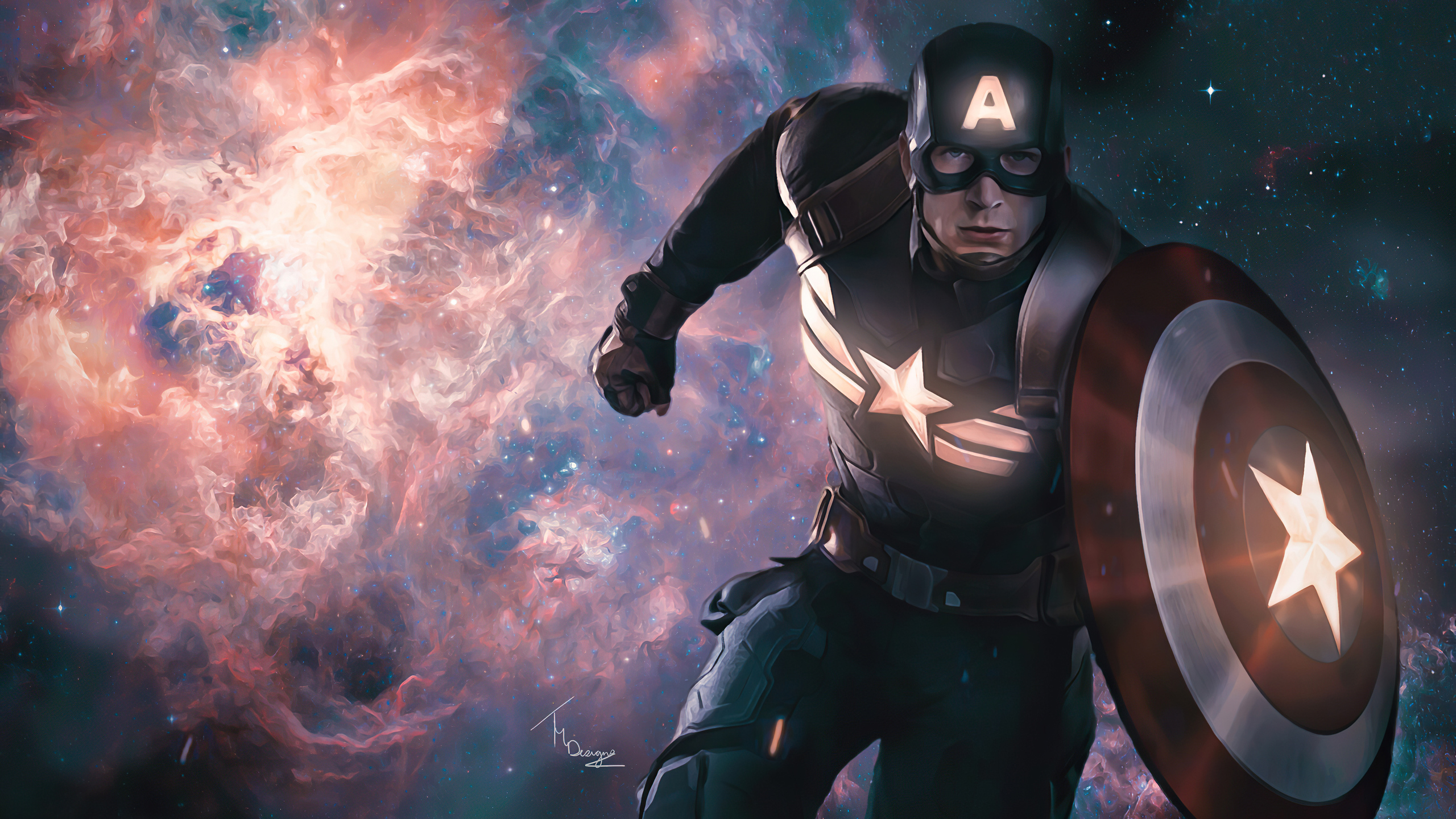 2560x1440 2020 Captain America 4k Artwork 1440P Resolution ...