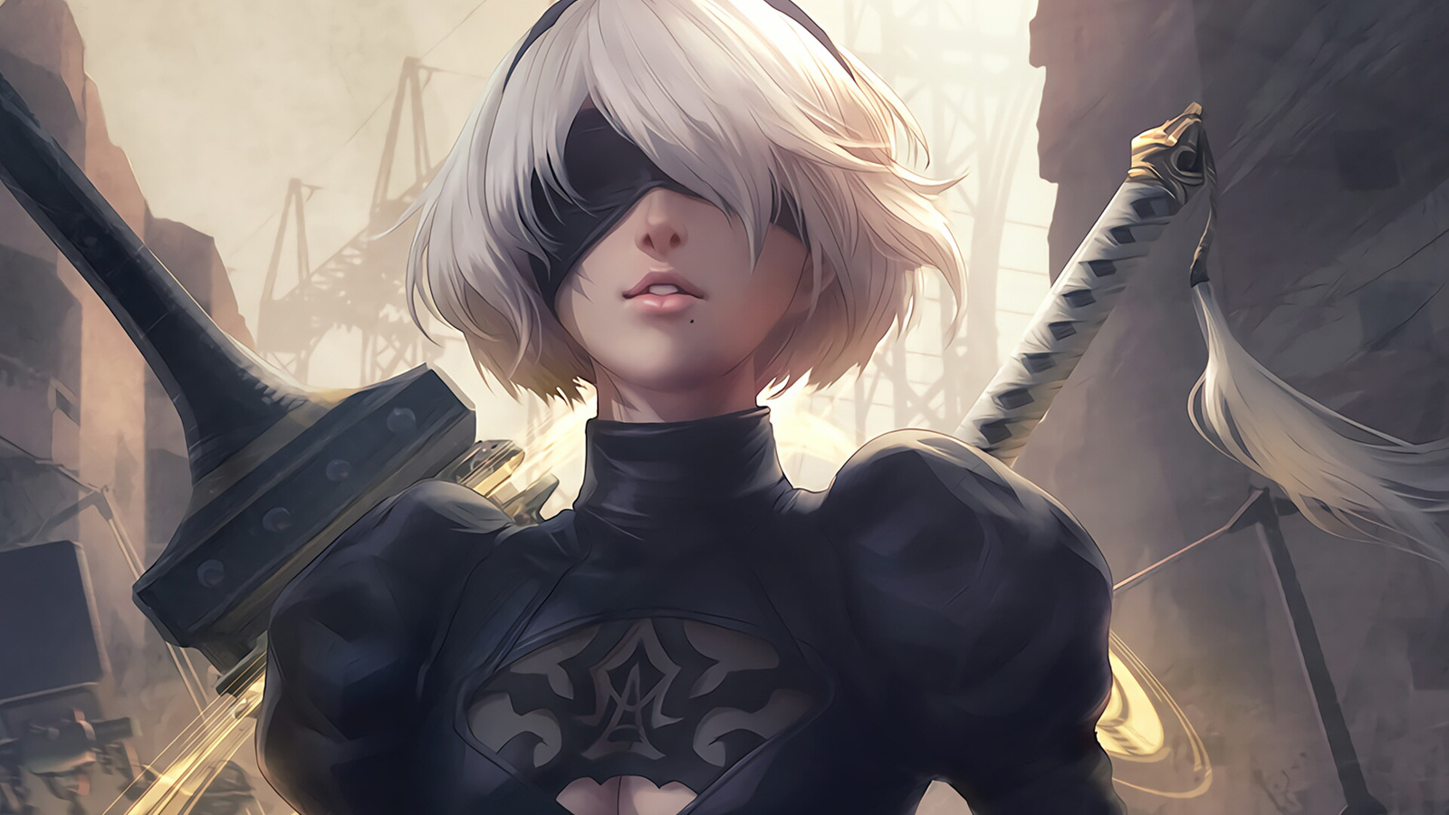 Nier Automata Fantasy Game Art Full Hd Wallpaper: 1600x900 2b Nier Automata 1600x900 Resolution HD 4k