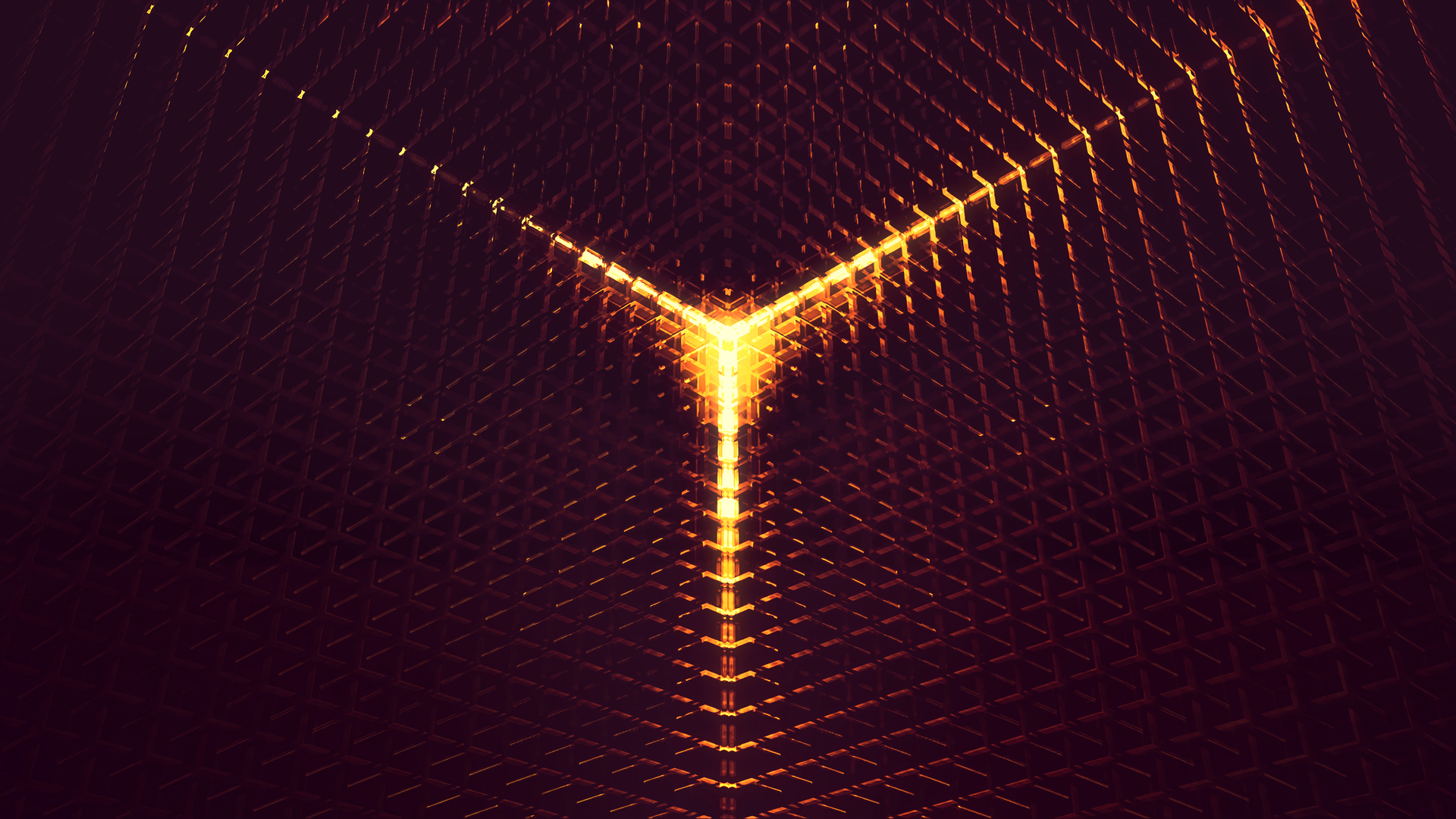 1920x1080 3D Abstract Digital Art Orange Light 4k Laptop ...