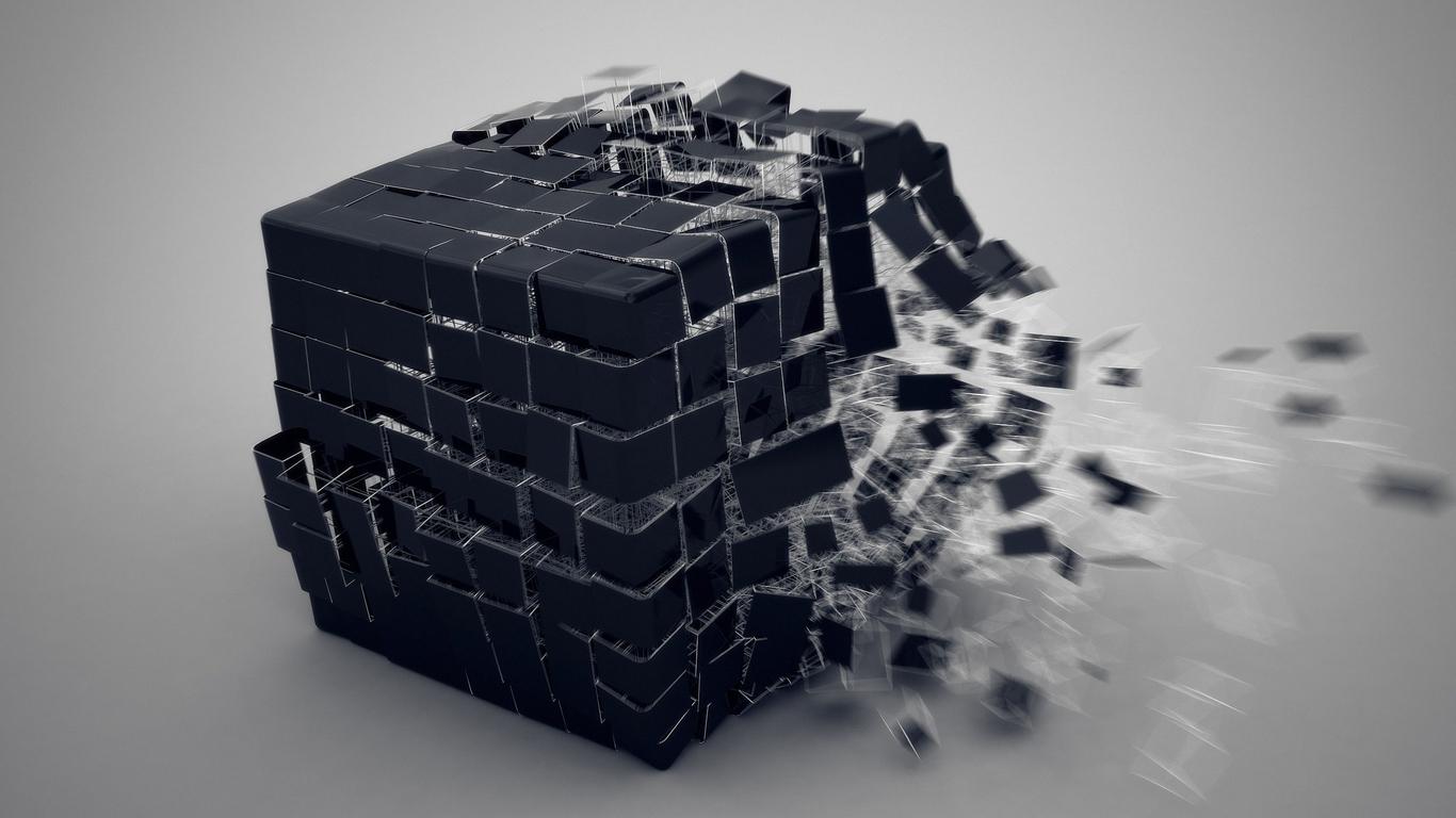 1366x768 3d Cube Burst 1366x768 Resolution Hd 4k Wallpapers