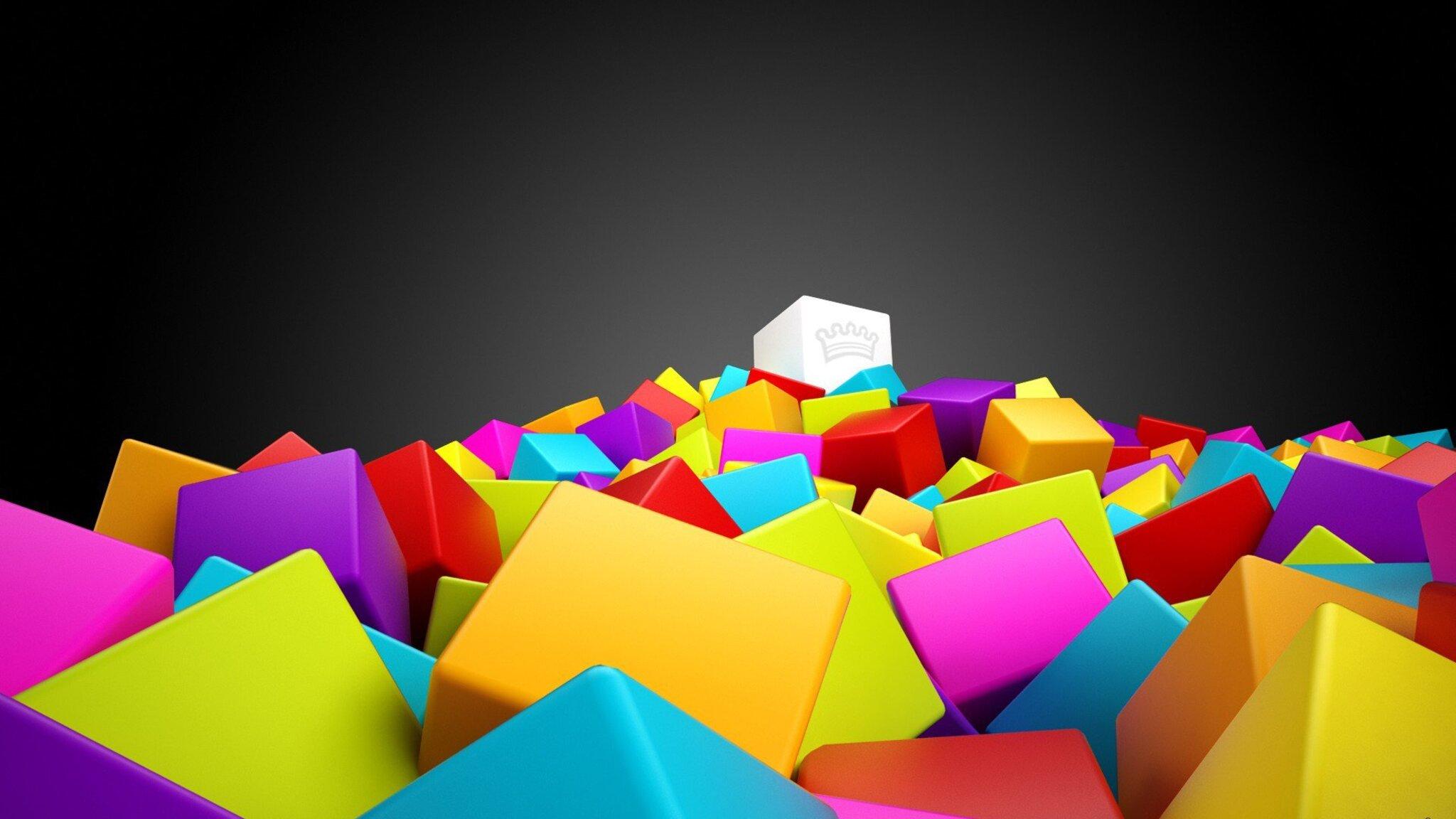 Download 3d Cubes HD Wallpaper In 2048x1152 Screen Resolution