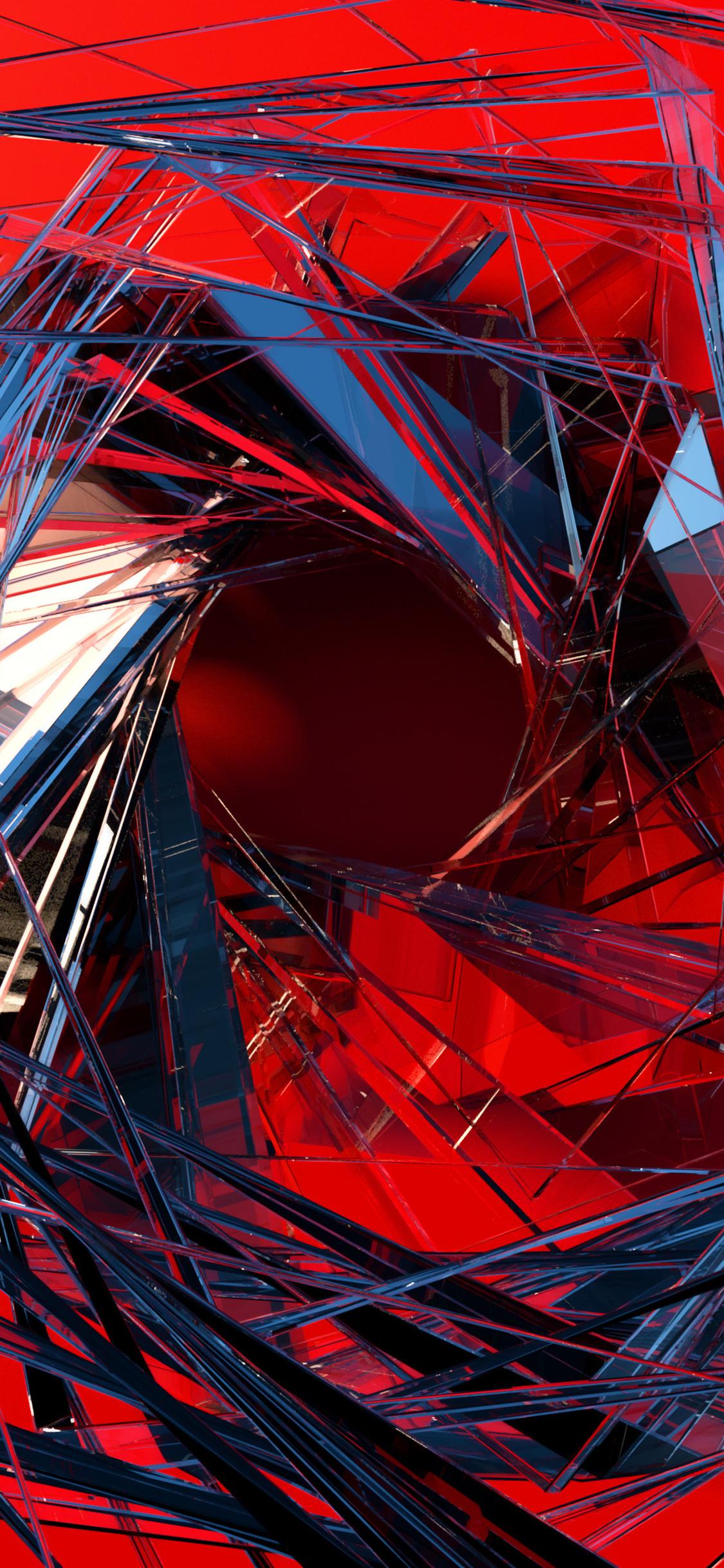 3d glass abstract art no