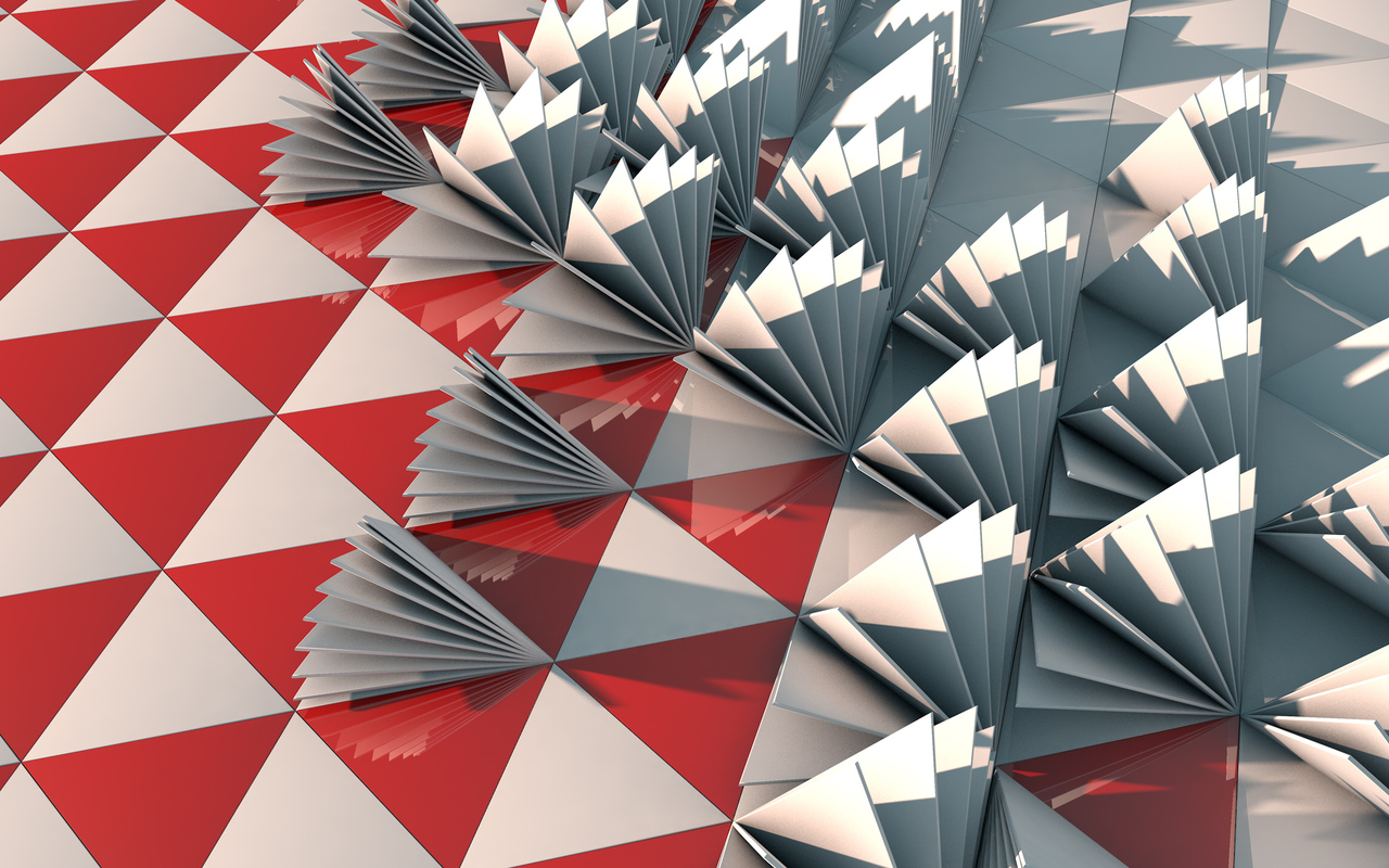 3d Triangle Red Abstract Red 720P HD 4k Wallpapers