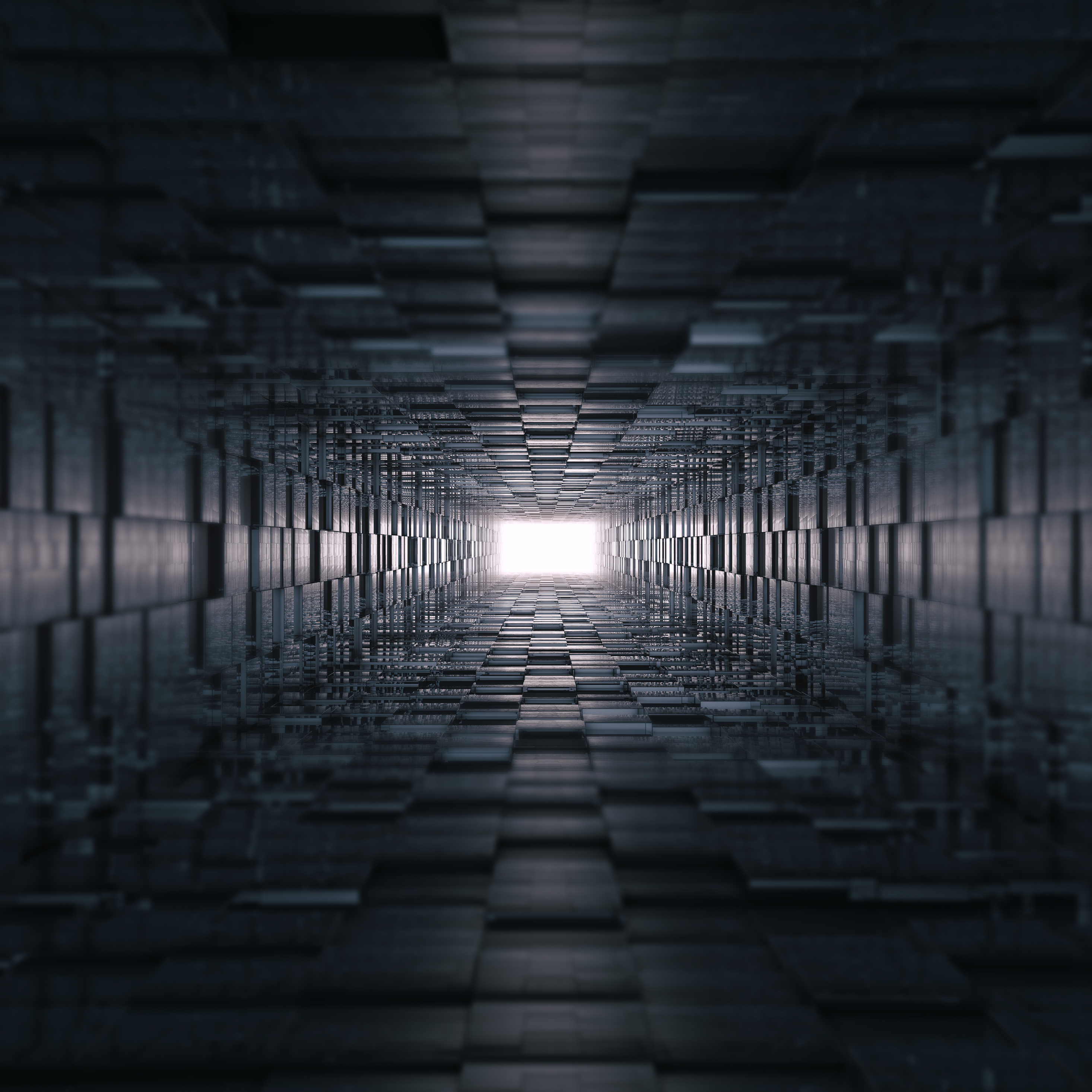 2932x2932 3d Tunnel Abstract 8k Ipad Pro Retina Display HD