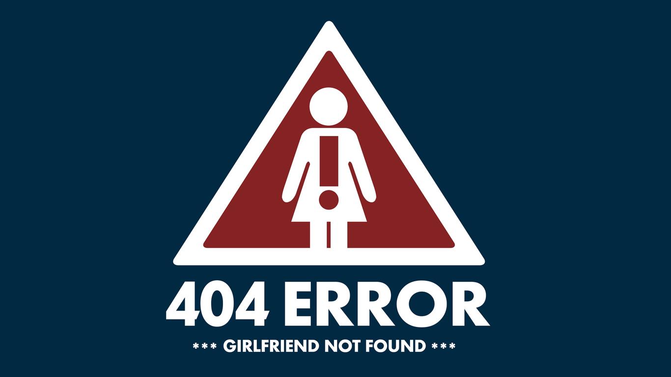 1366x768 404 Error Girlfriend Not Found 1366x768 Resolution