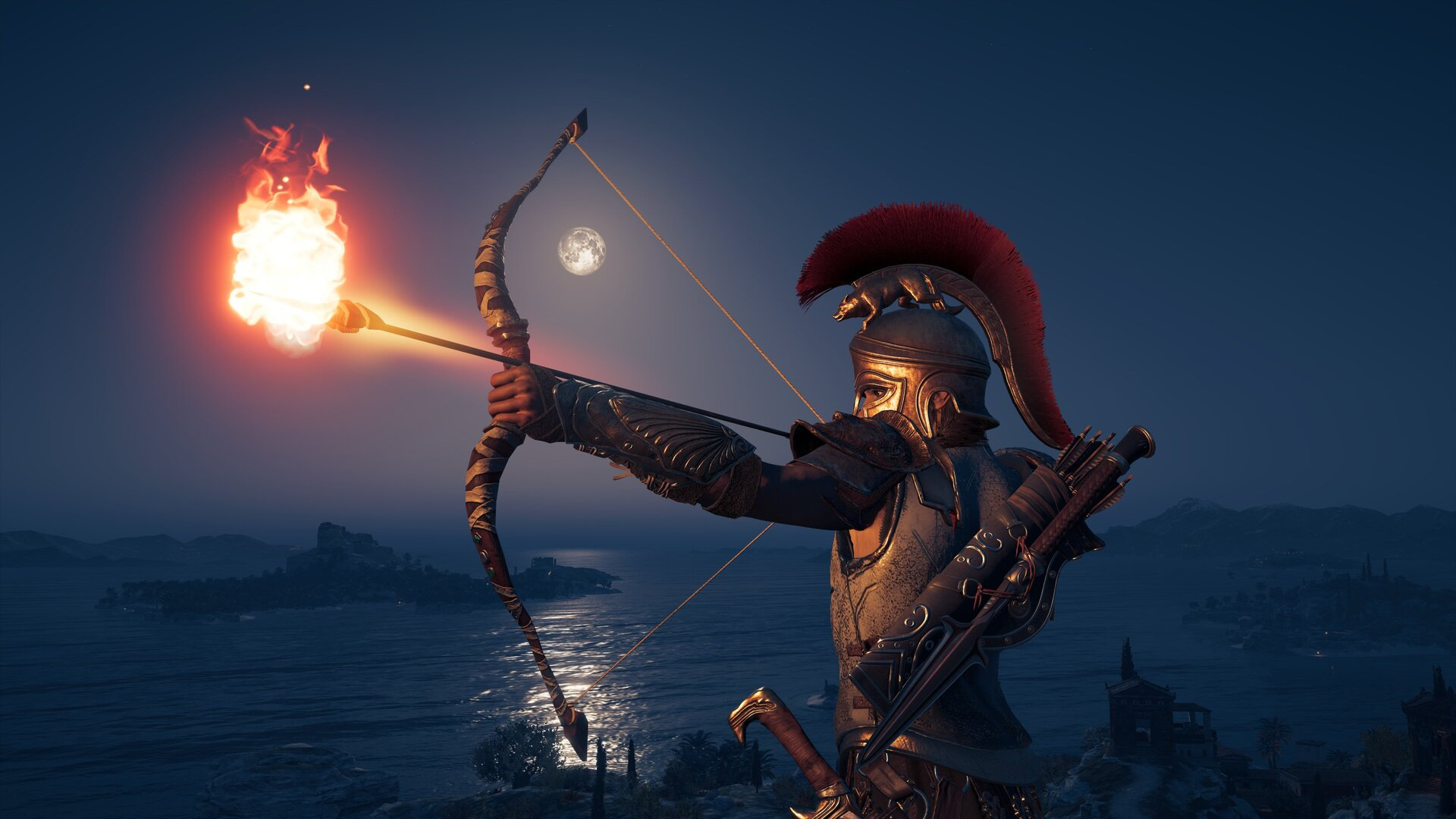 1920x1080 4k Assassins Creed Odyssey Bow And Arrow Laptop Full Hd 1080p Hd 4k Wallpapers Images Backgrounds Photos And Pictures