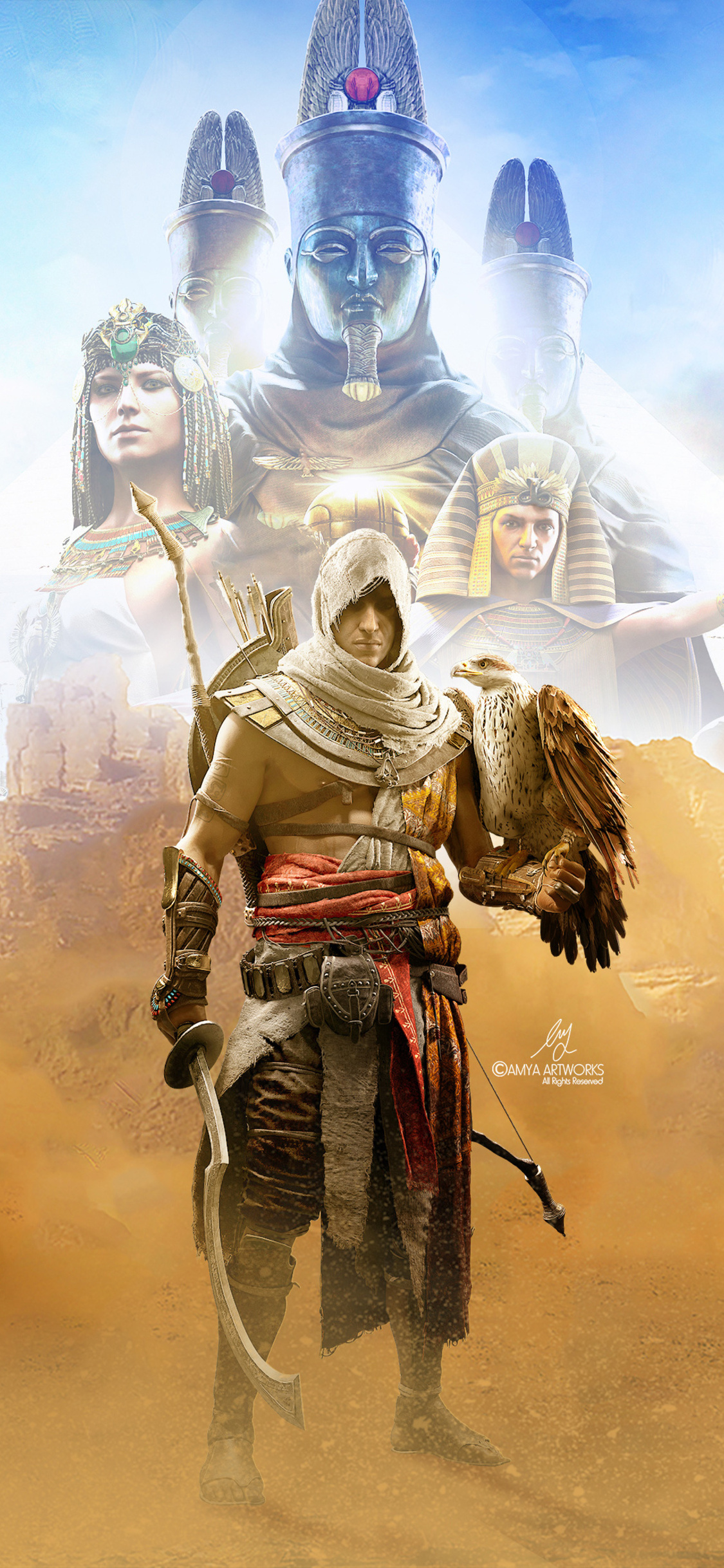 1125x2436 4k Assassins Creed Origins Iphone Xs Iphone 10 Iphone X