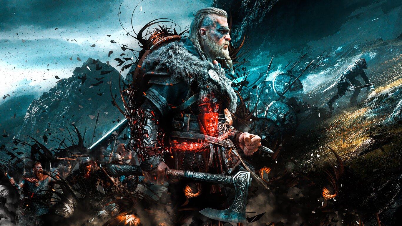 1366x768 4k Assassins Creed Valhalla Ps5 Game 1366x768 ...