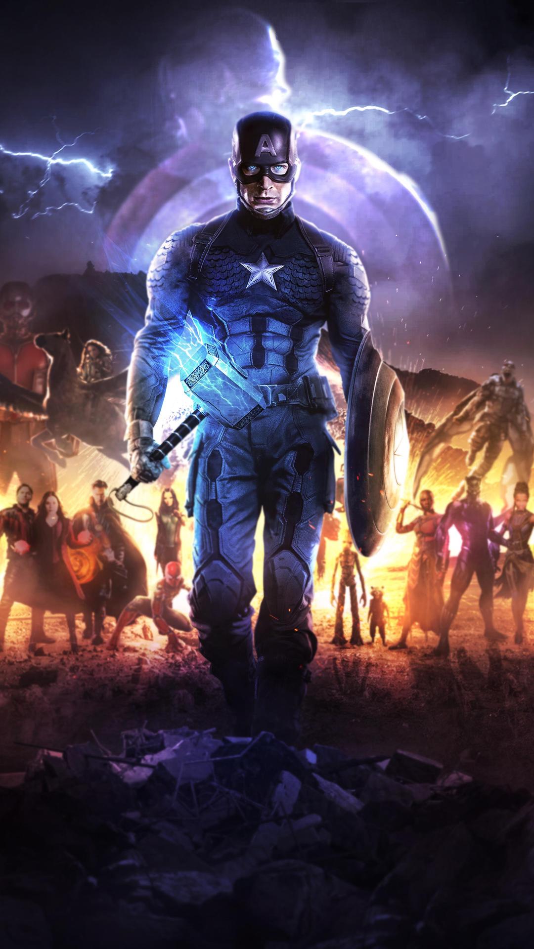 1080x1920 4k Captain America In Avengers Endgame Iphone 7 ...
