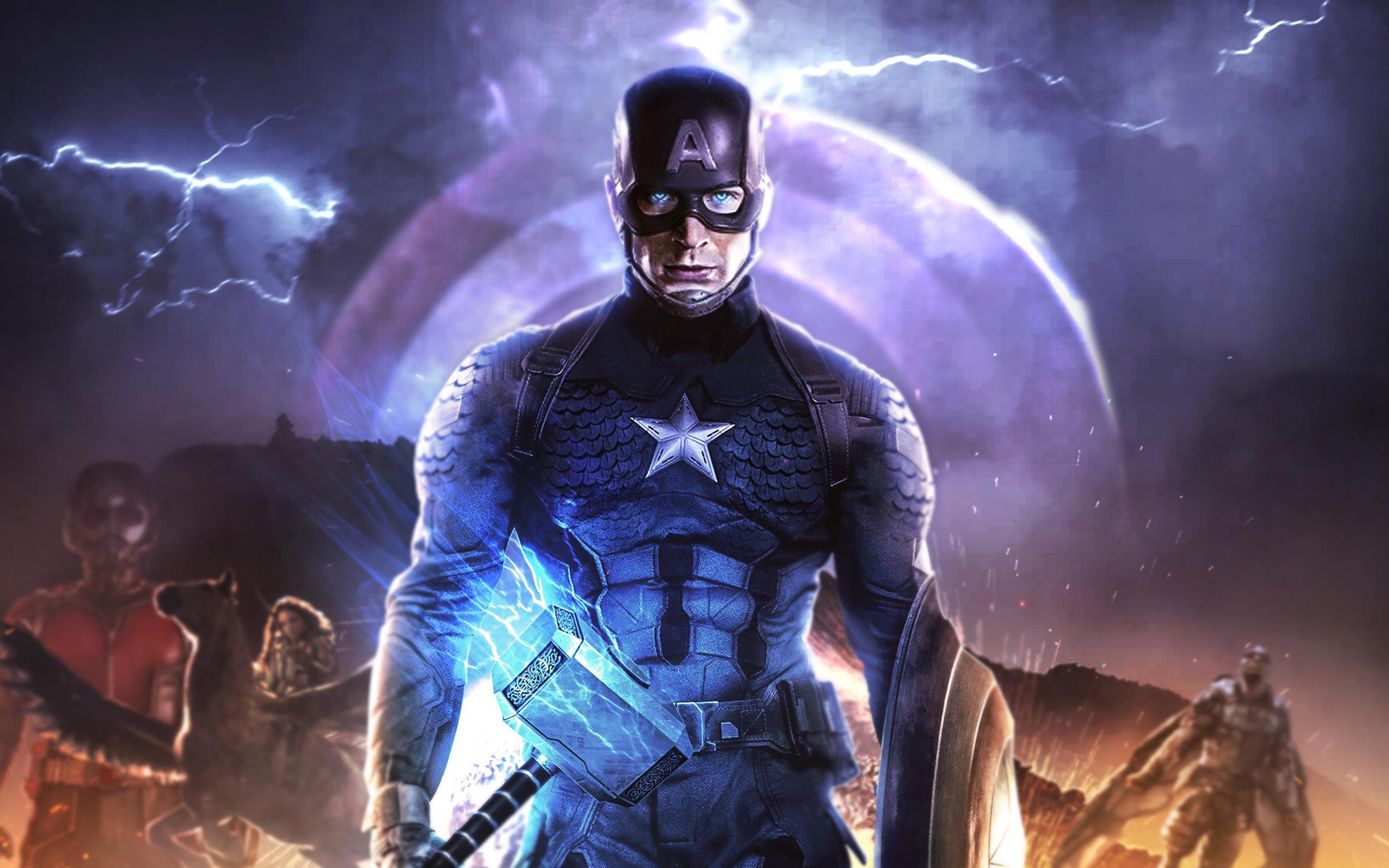 3840x2400 4k Captain America In Avengers Endgame 4k HD 4k ...