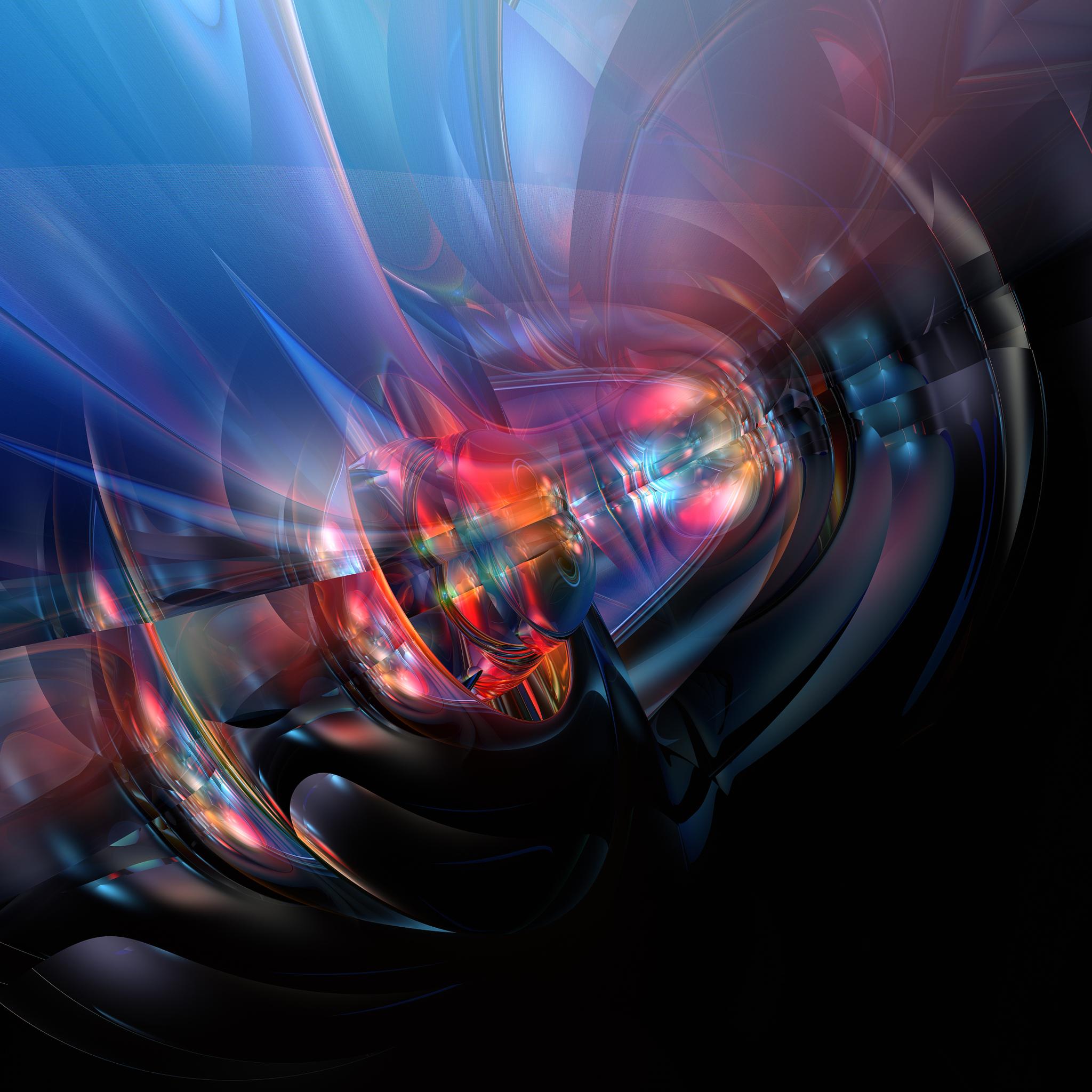 2048x2048 4k Fusion Abstract Ipad Air HD 4k Wallpapers