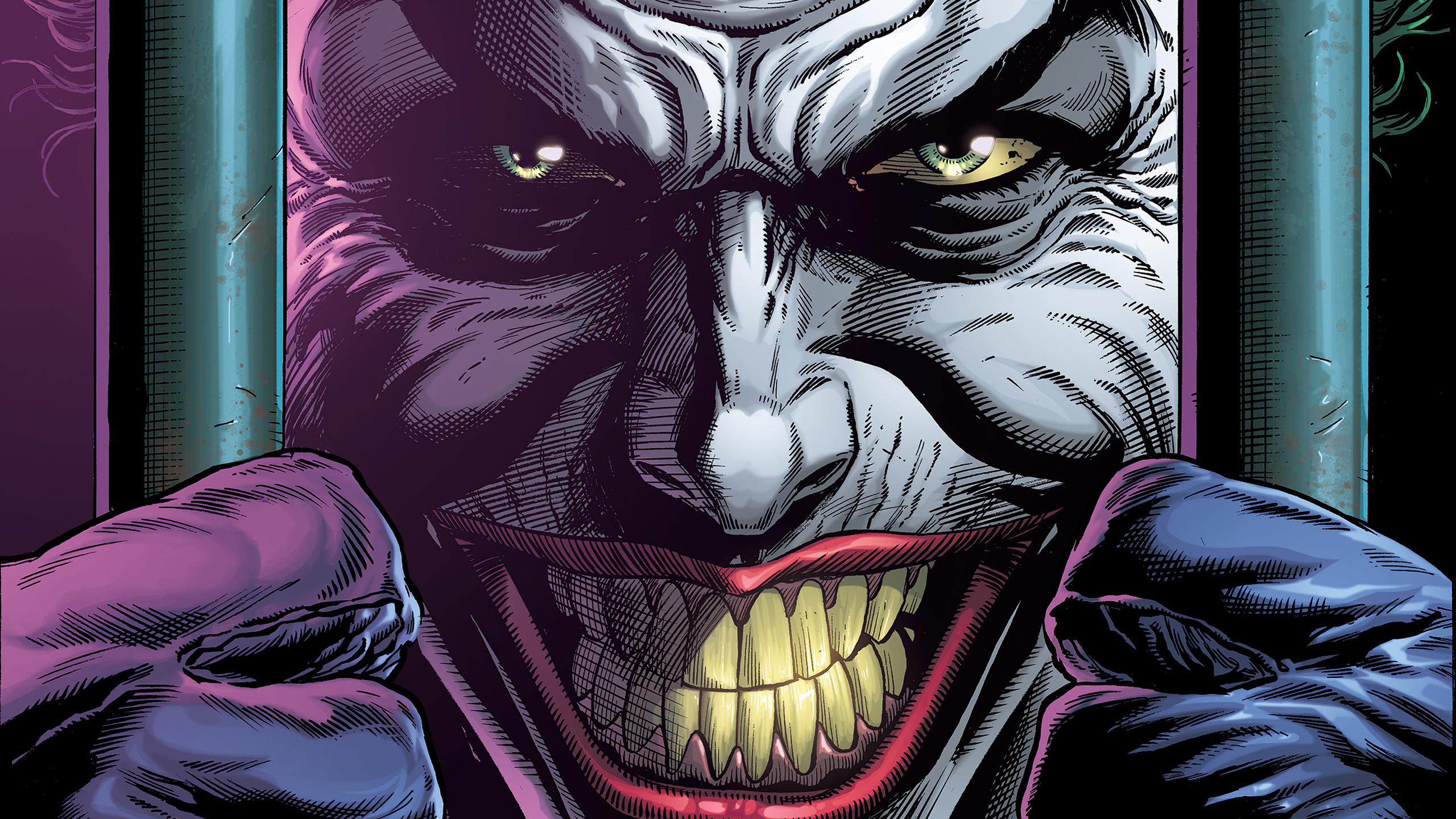2560x1440 4k Joker Smile 1440P Resolution HD 4k Wallpapers ...