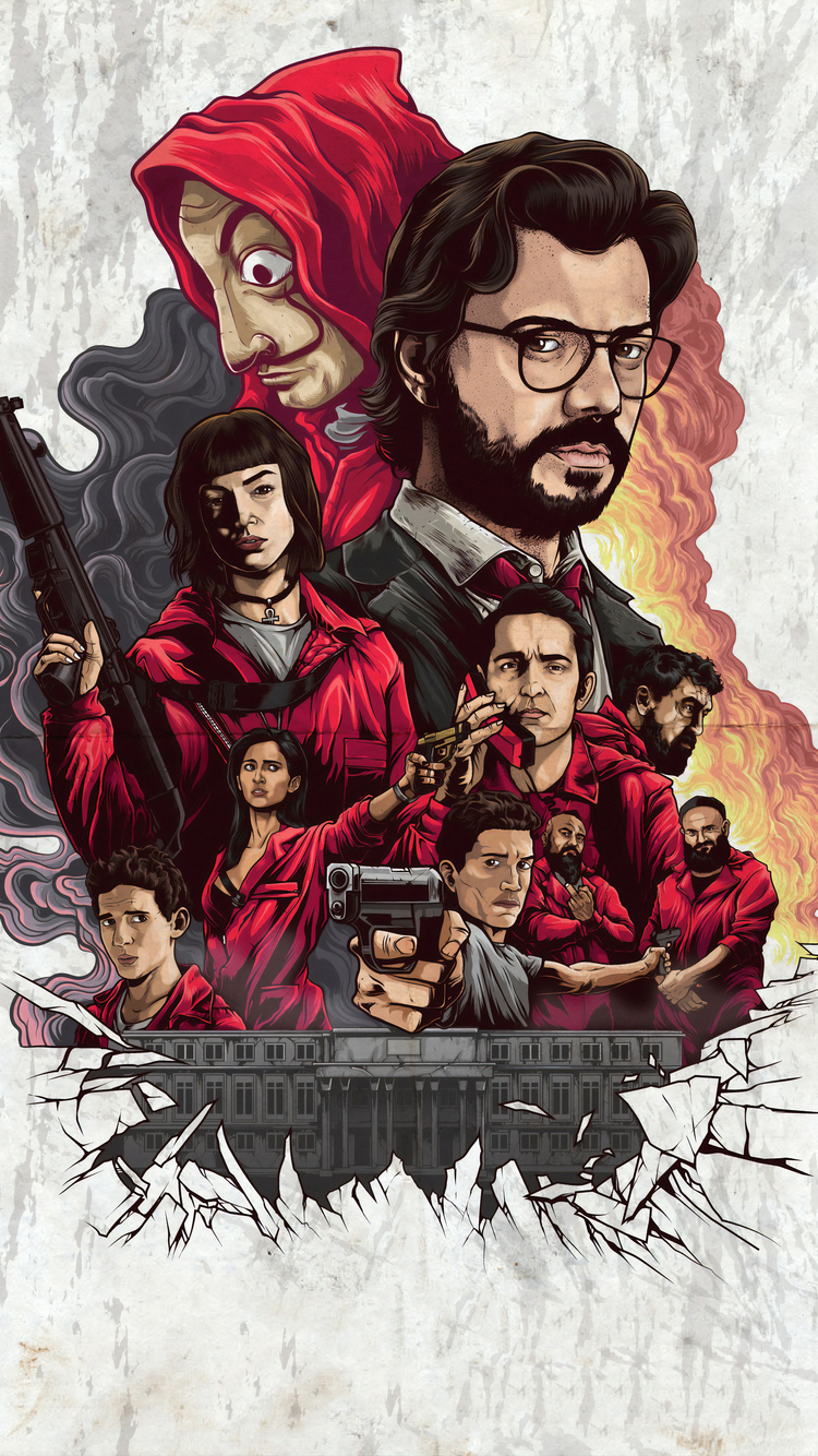750x1334 4k Money Heist Netflix 2019 Iphone 6 Iphone 6s Iphone 7 Hd 4k Wallpapers Images Backgrounds Photos And Pictures