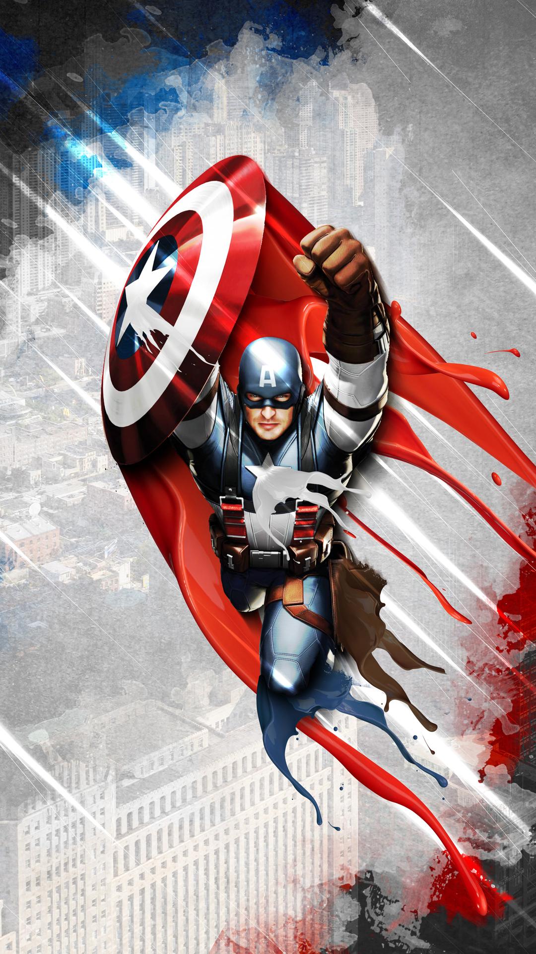 1080x1920 4k New Captain America Iphone 7,6s,6 Plus, Pixel ...