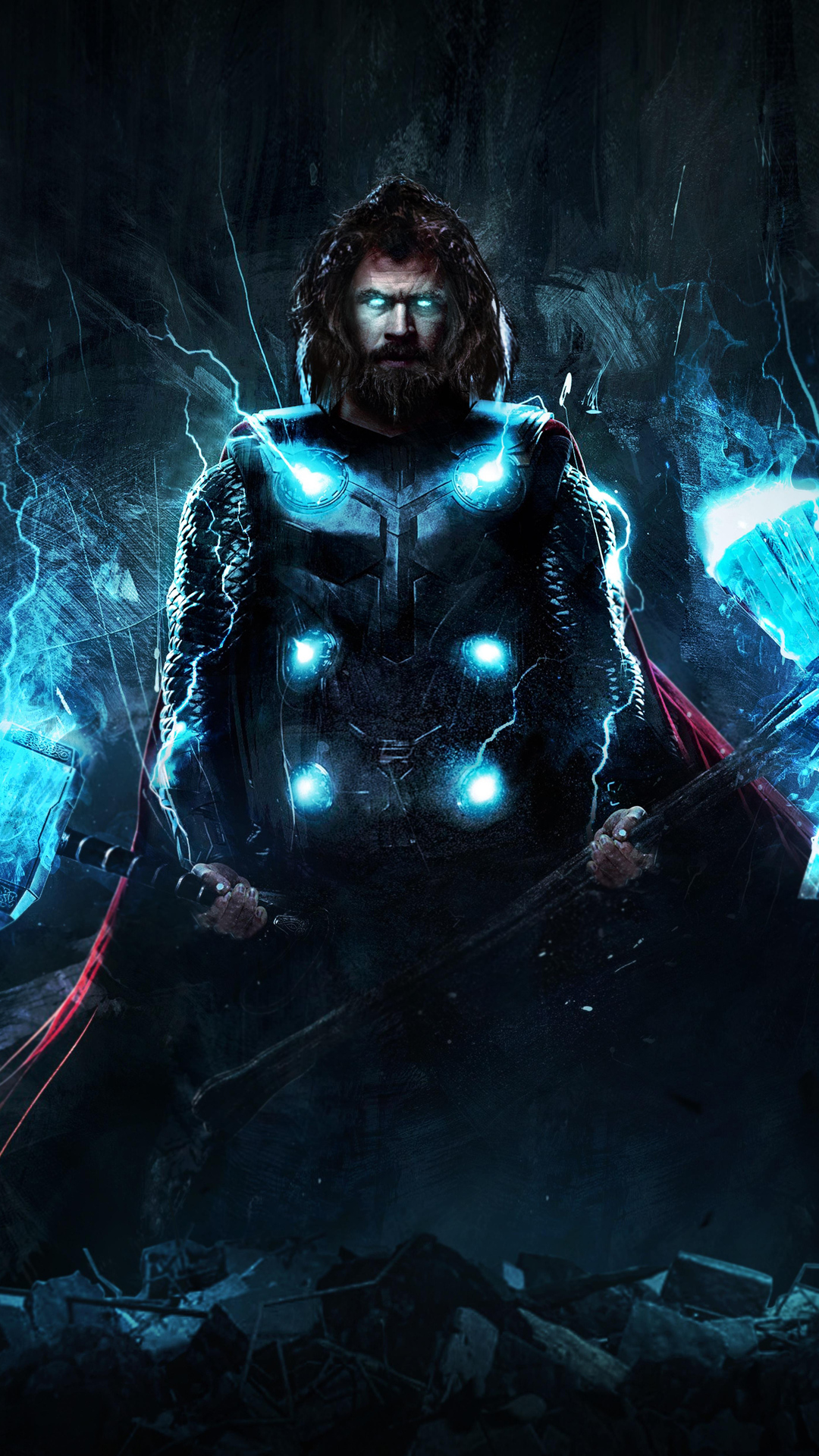 1080x1920 4k Thor In Avengers Endgame Iphone 7 6s 6 Plus
