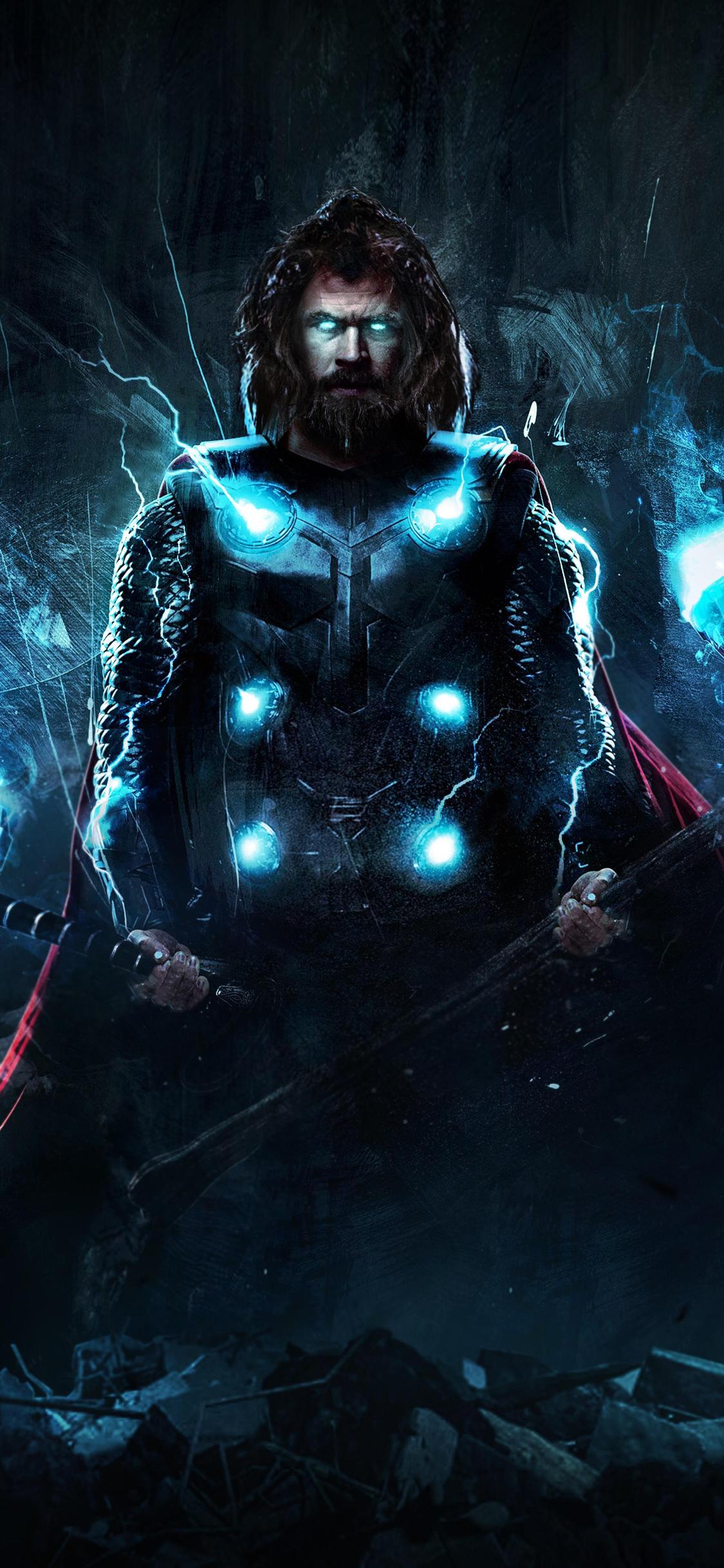 1125x2436 4k Thor In Avengers Endgame Iphone Xsiphone 10