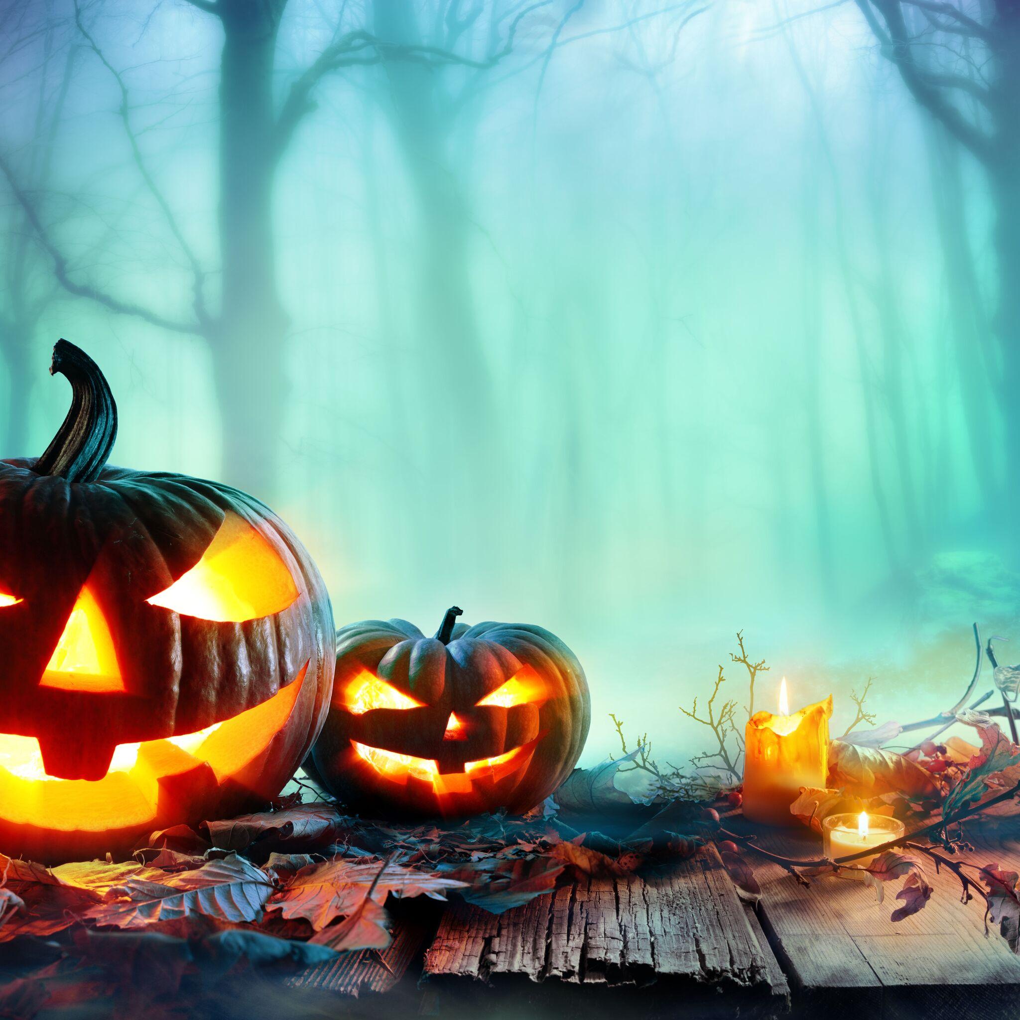 2048x2048 8k Halloween Ipad Air Hd 4k Wallpapers Images