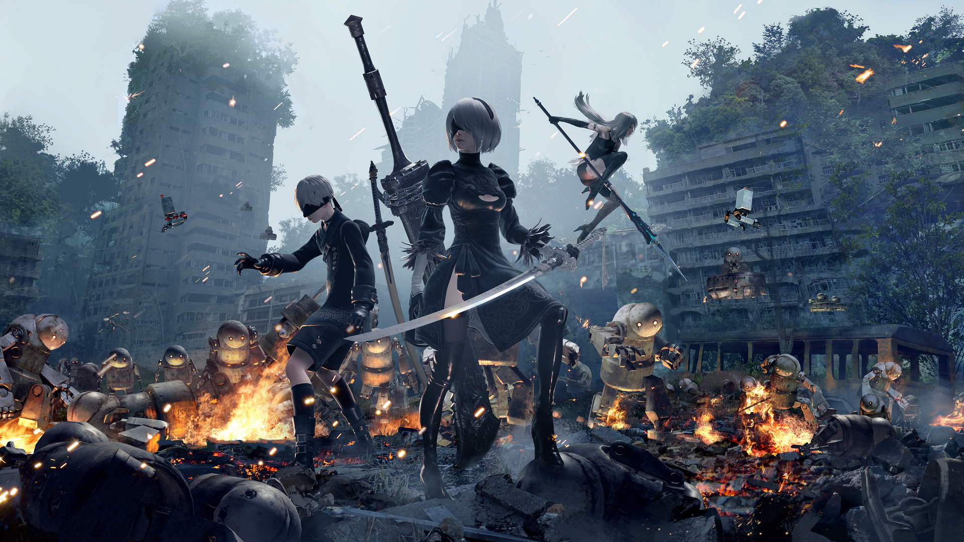 1920x1080 9S 2B And A2 NieR Automata 4k Laptop Full HD