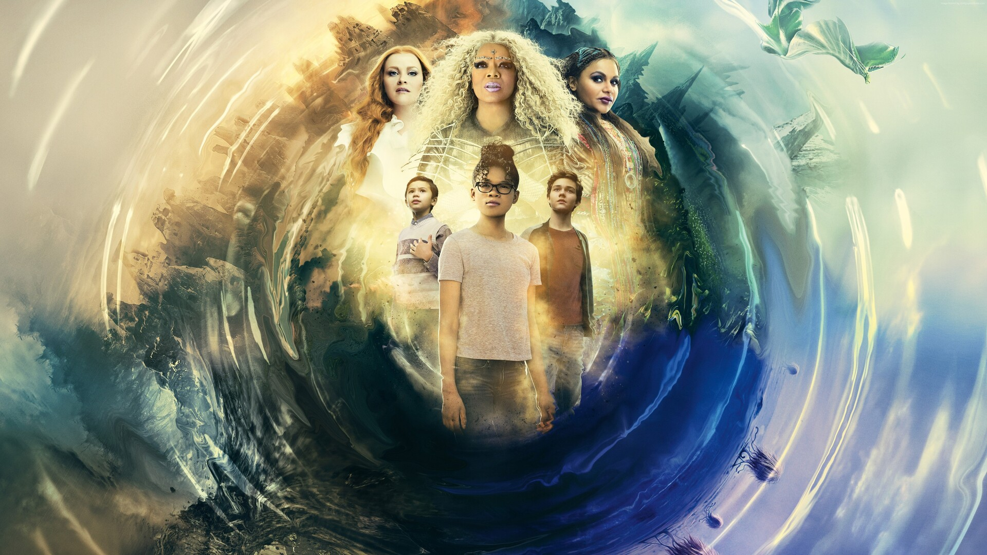 A Wrinkle In Time 2018 Movie Hd Movies 4k Wallpapers: 1920x1080 A Wrinkle In Time Movie 2018 5k Poster Laptop