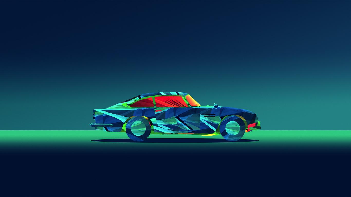 Abstract Car Facets Justin Maller Kn