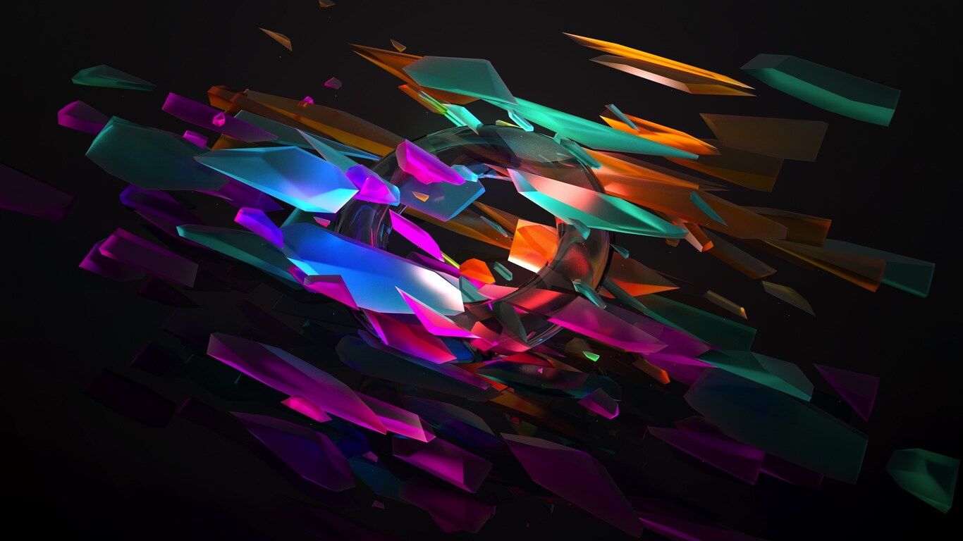 1366x768 Abstract Colorful Shape 4k 1366x768 Resolution HD
