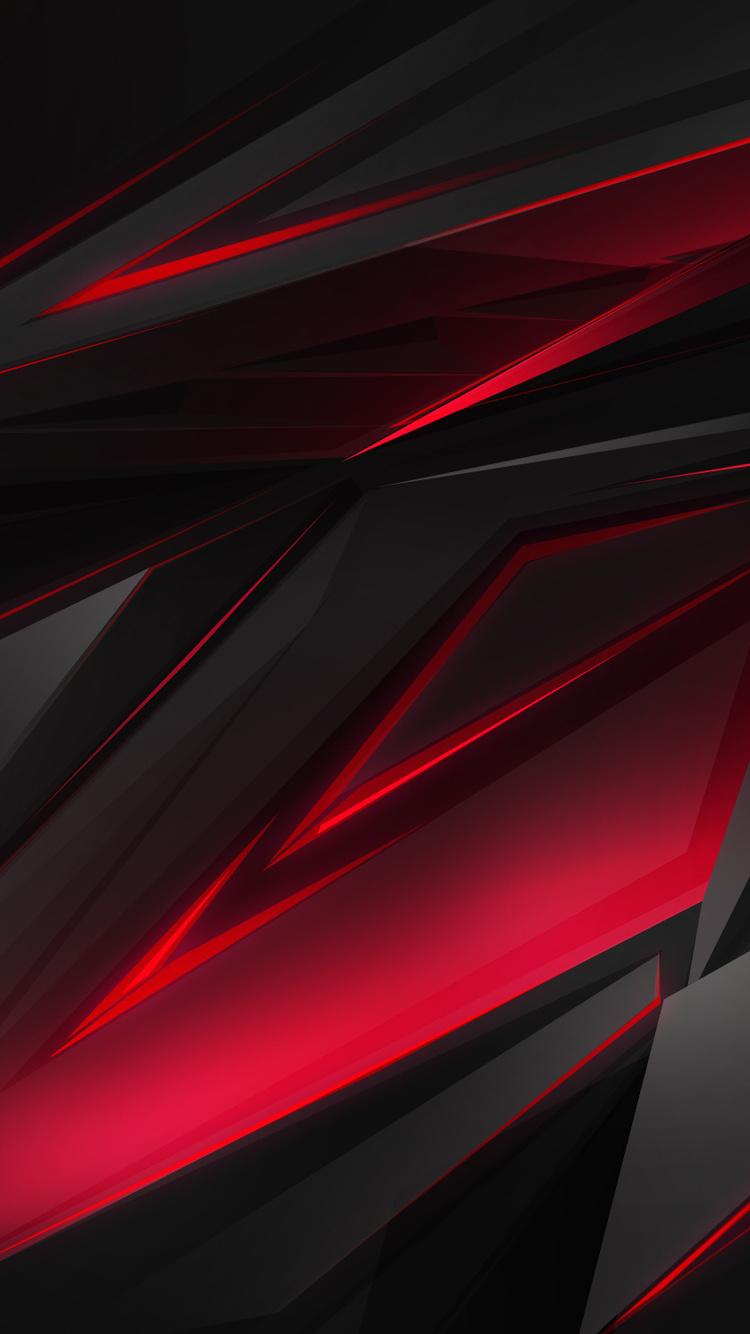 750x1334 Abstract Dark Red 3d Digital Art Iphone 6 Iphone