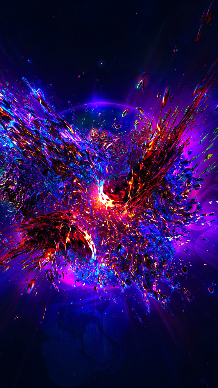 64ecd2c022e 750x1334 Abstract Explosion iPhone 6, iPhone 6S, iPhone 7 HD 4k ...
