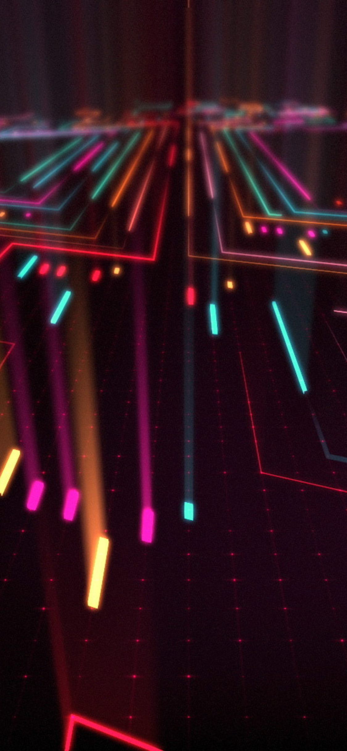 1125x2436 Abstract Neon Digital Art Iphone XS,Iphone 10 ...