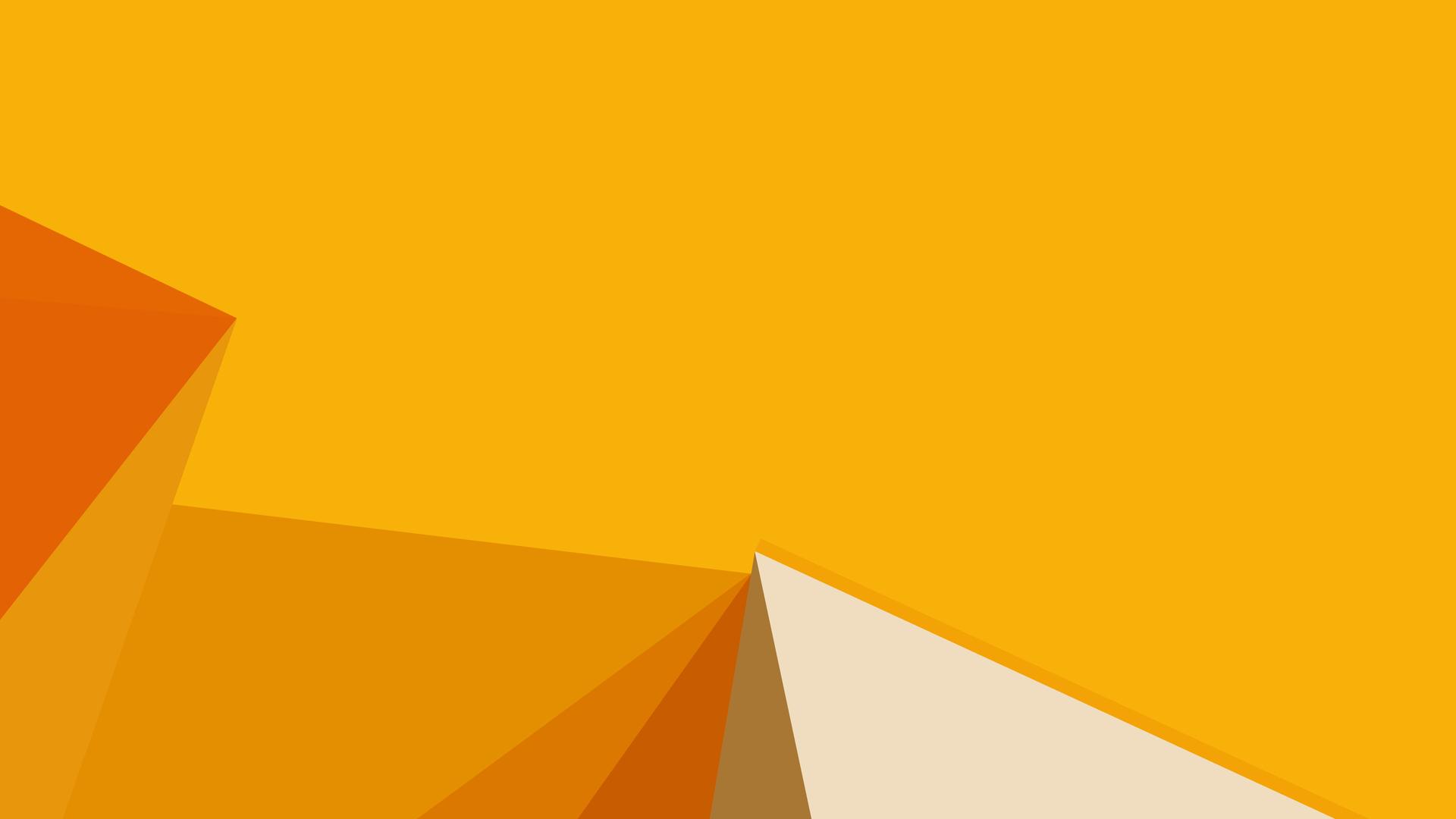 1920x1080 Abstract Orange Shapes Laptop Full Hd 1080p Hd 4k