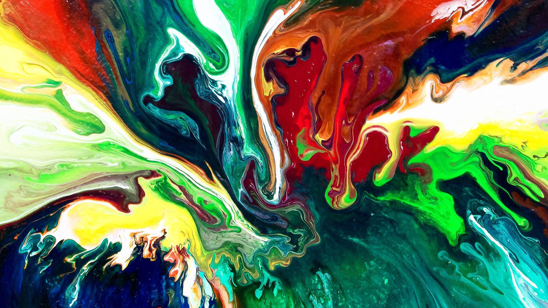 1920x1080 Abstract Paint Swirl Laptop Full HD 1080P HD 4k ...