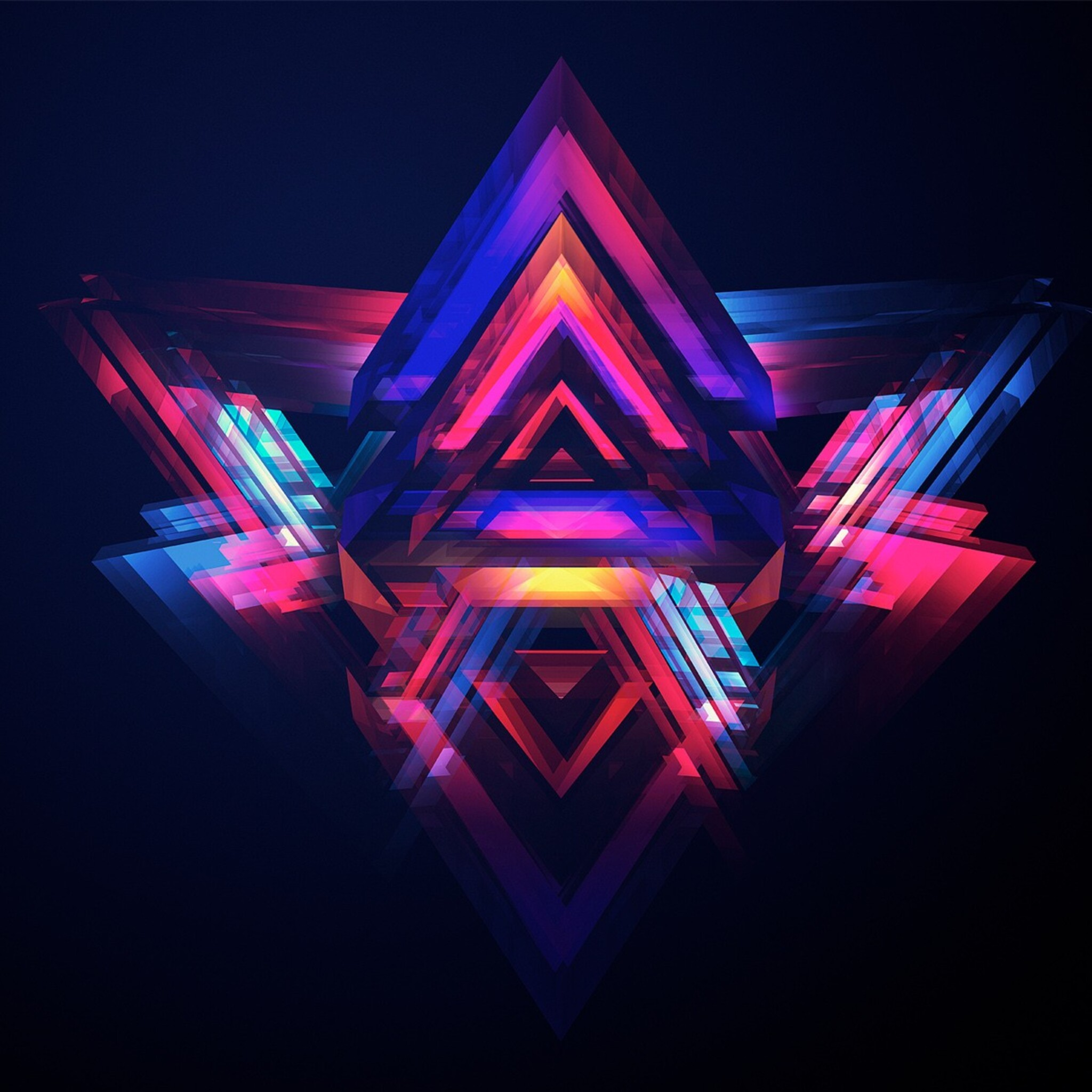 2048x2048 abstract pyramids ipad air hd 4k wallpapers, images