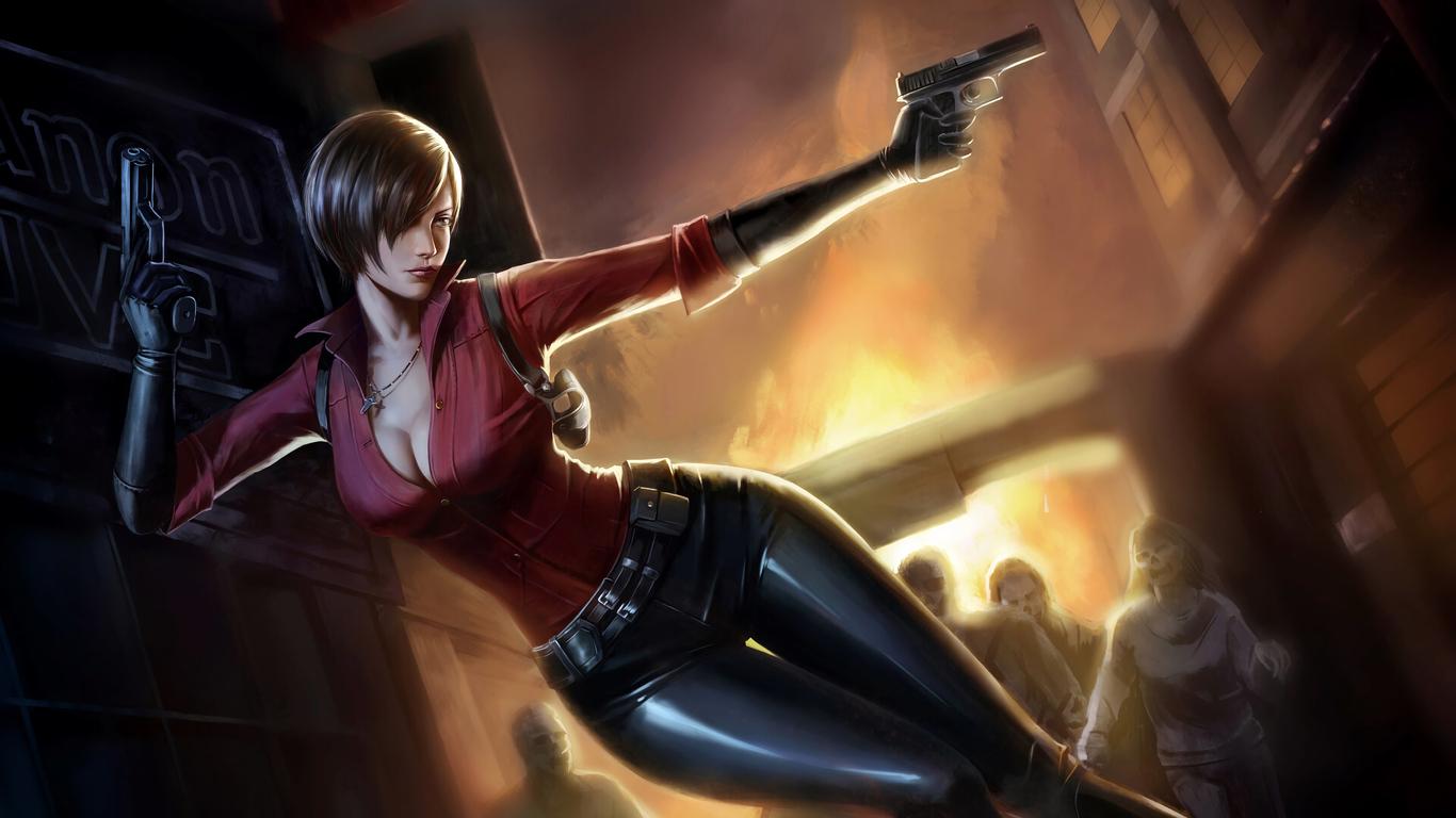 1366x768 Ada Wong Resident Evil 2 4k Art 1366x768 Resolution Hd 4k
