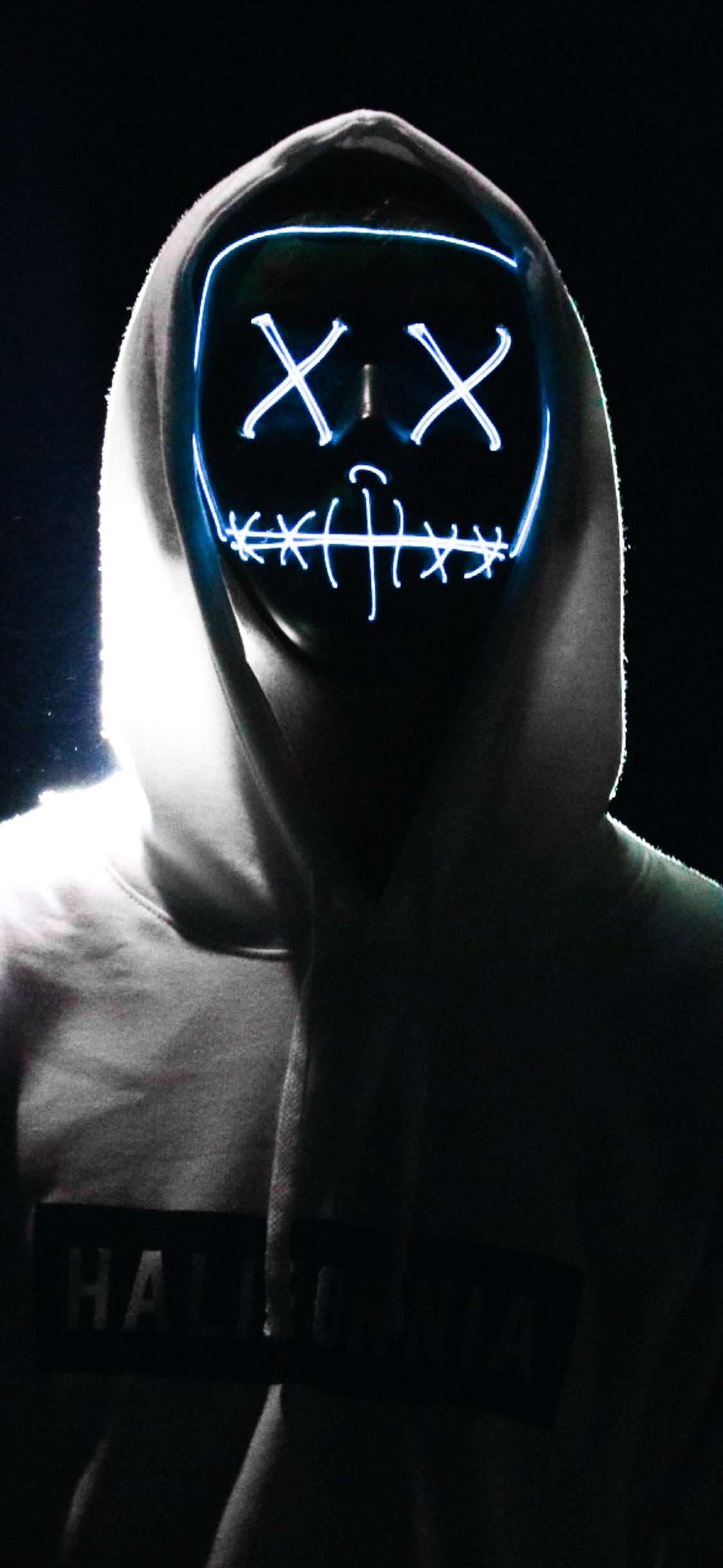 1125x2436 Adult Mask Creepy 5k Iphone Xs Iphone 10 Iphone X