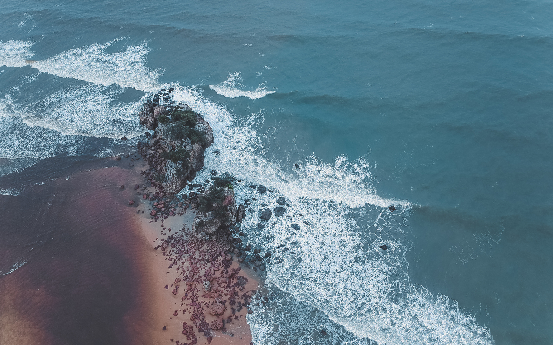 2880x1800 Aerial Shot Of Beach Seashore 4k Macbook Pro Retina Hd 4k