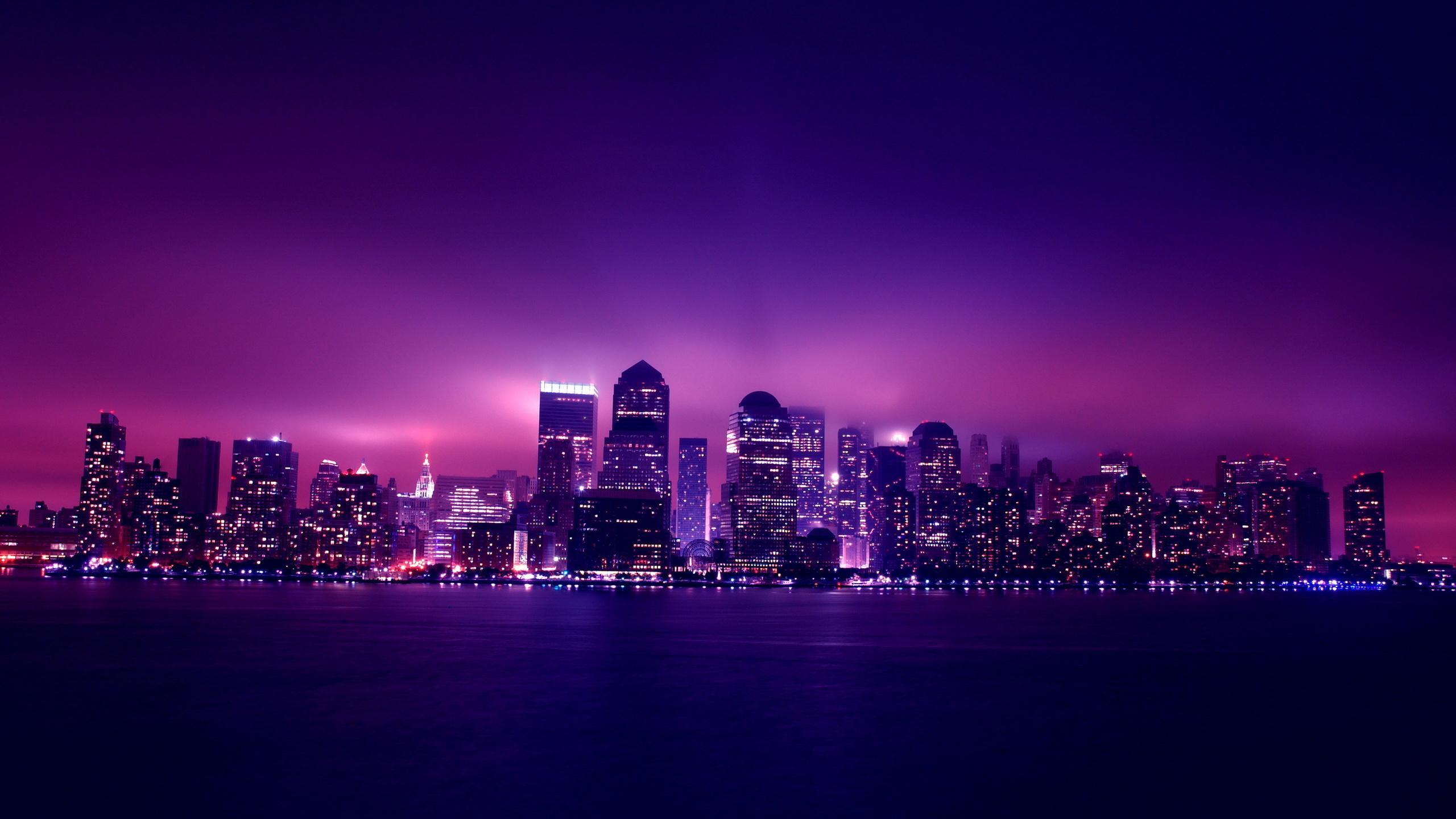 2560x1440 aesthetic city night lights 1440p resolution hd 4k