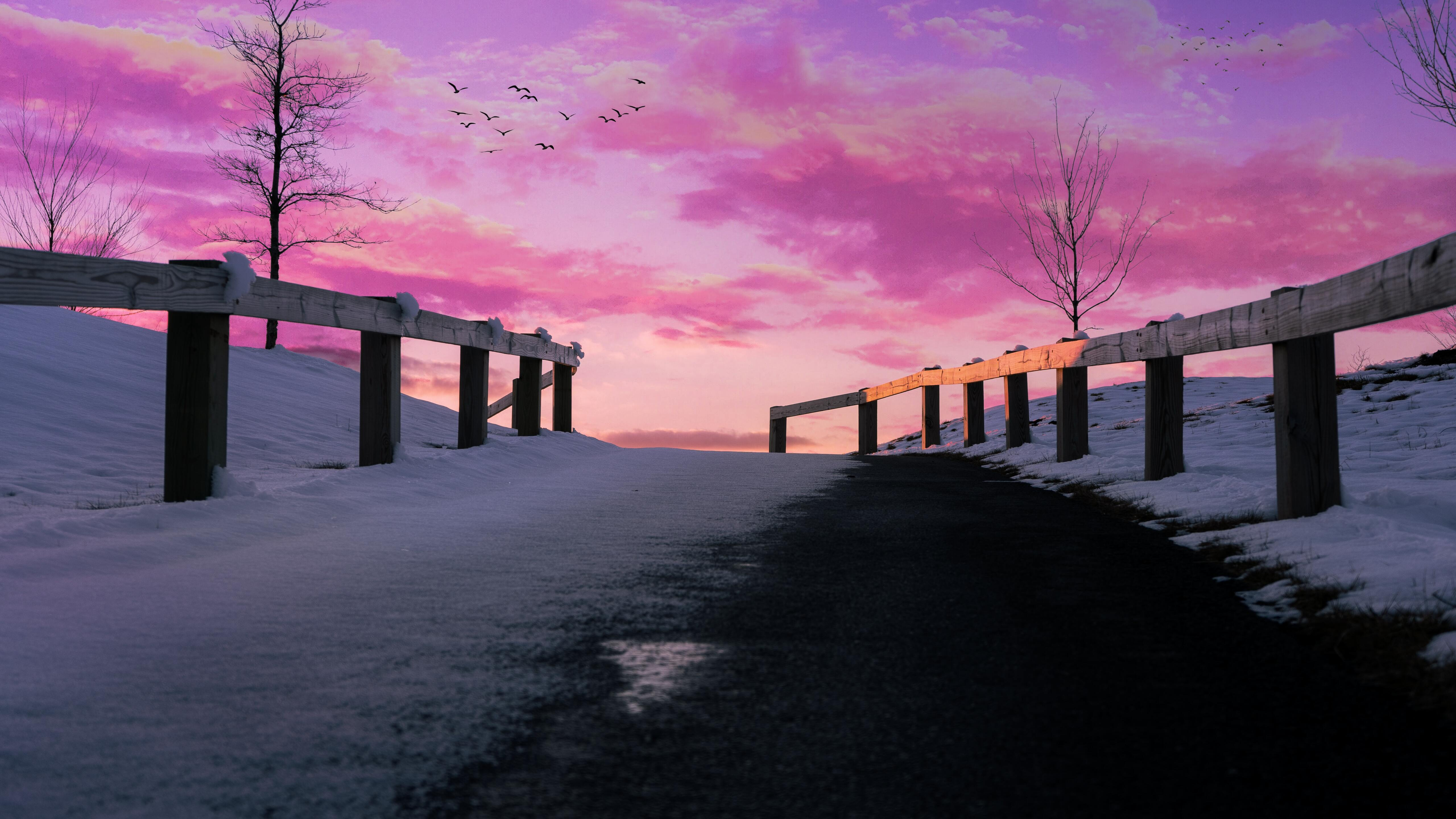 5120x2880 Aesthetics Pink Pink Sky 5k 5k Hd 4k Wallpapers Images Backgrounds Photos And Pictures