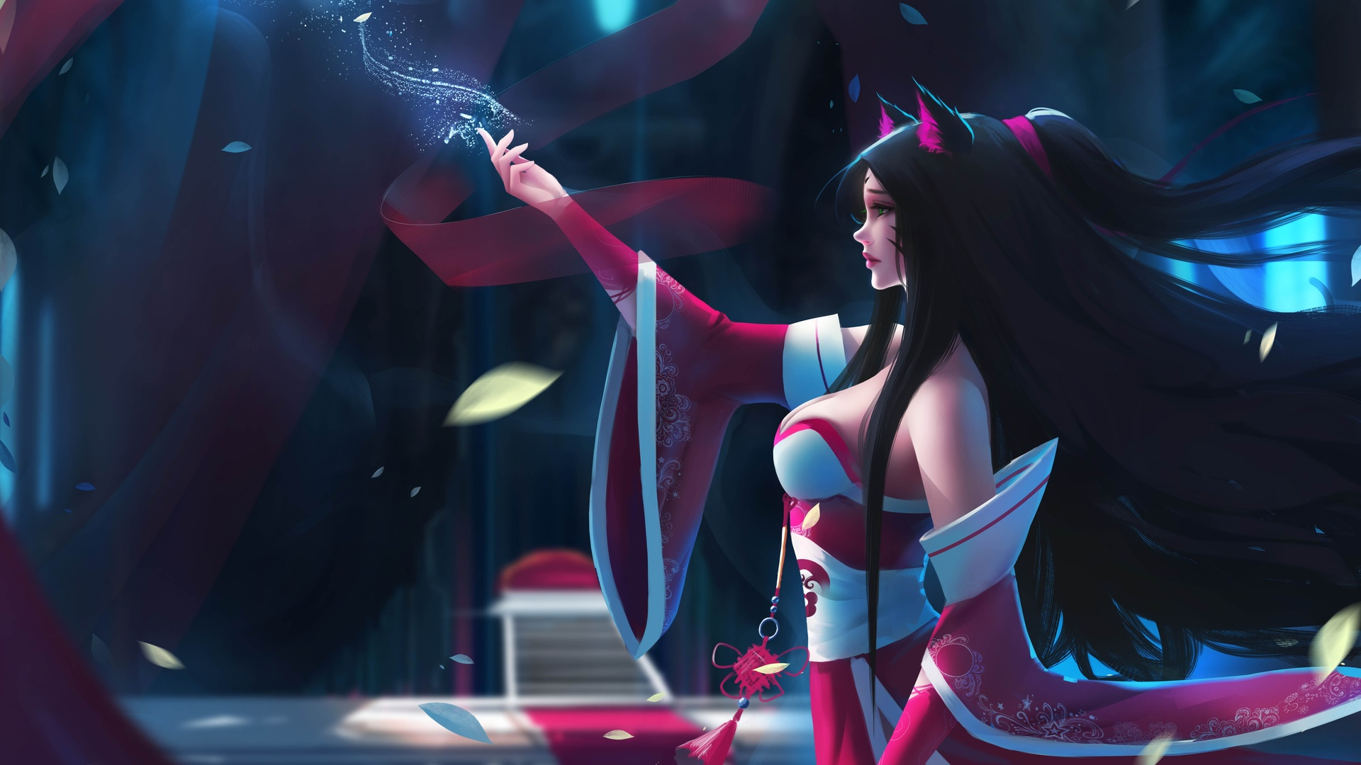 1920x1080 Ahri League Of Legends Fan Art 4k Laptop Full Hd 1080p