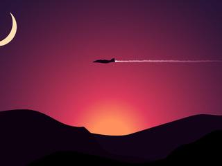 aircraft-moon-mountains-sunset-f1.jpg