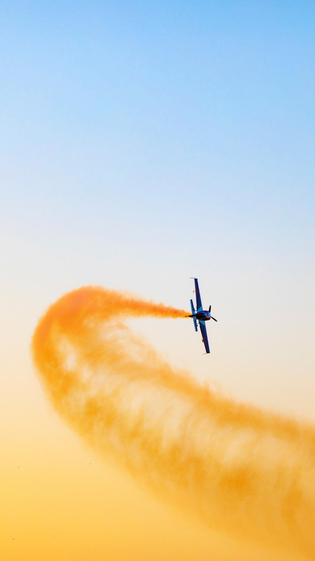 Airplane Throwing Yellow Smoke Flight 5k Ol
