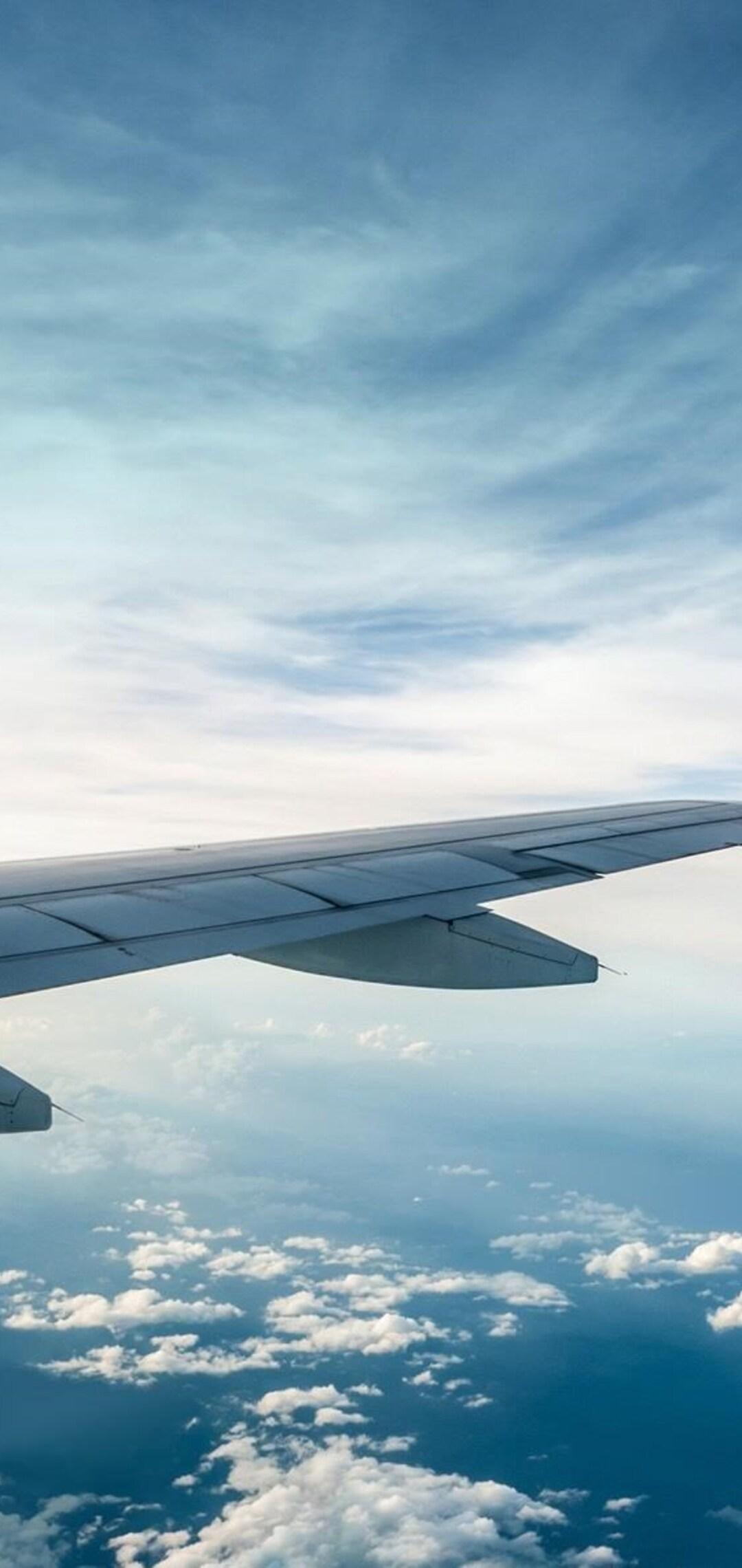 1080x2280 Airplane Wings One Plus 6 Huawei P20 Honor View 10 Vivo