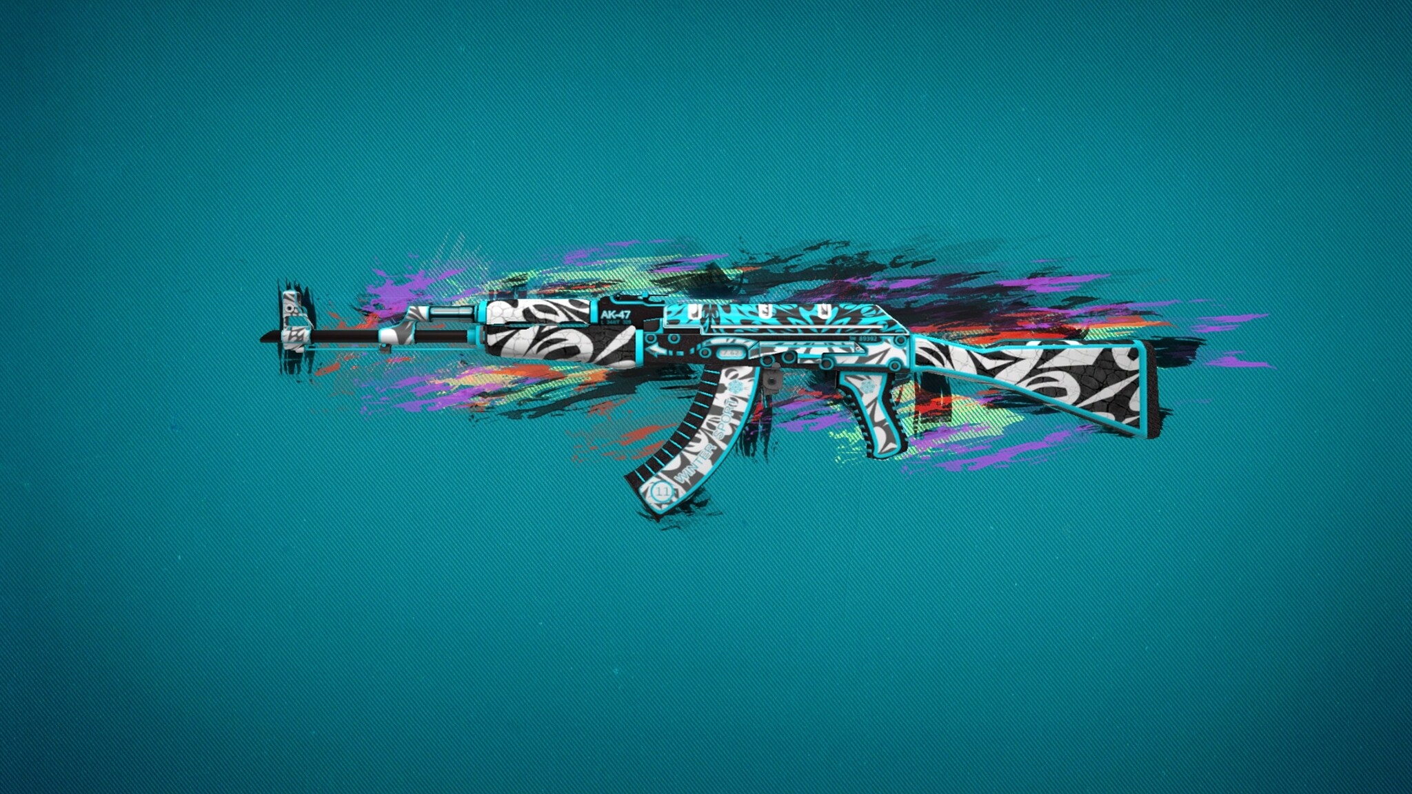 Ak47 Colorful Art Image