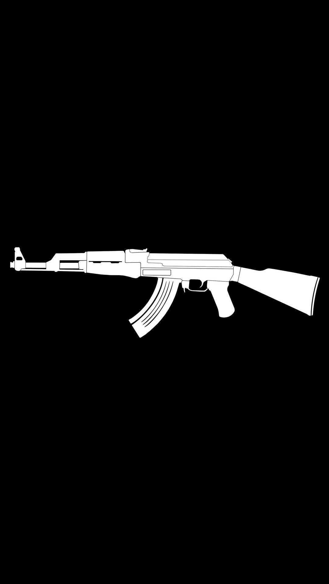 Ak47 Gun Weapon Minimalism Fn