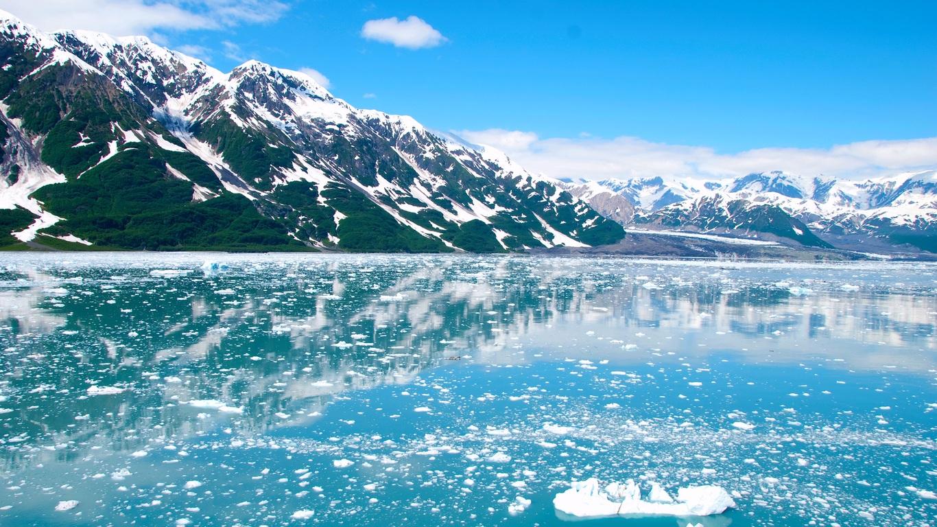 1366x768 Alaska Glacier Ice Mountains 1366x768 Resolution Hd