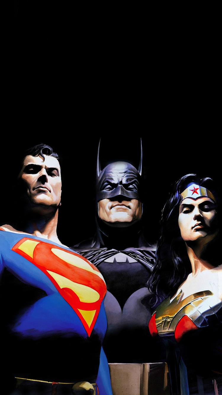 750x1334 Alex Ross Justice League Artwork Iphone 6 Iphone 6s