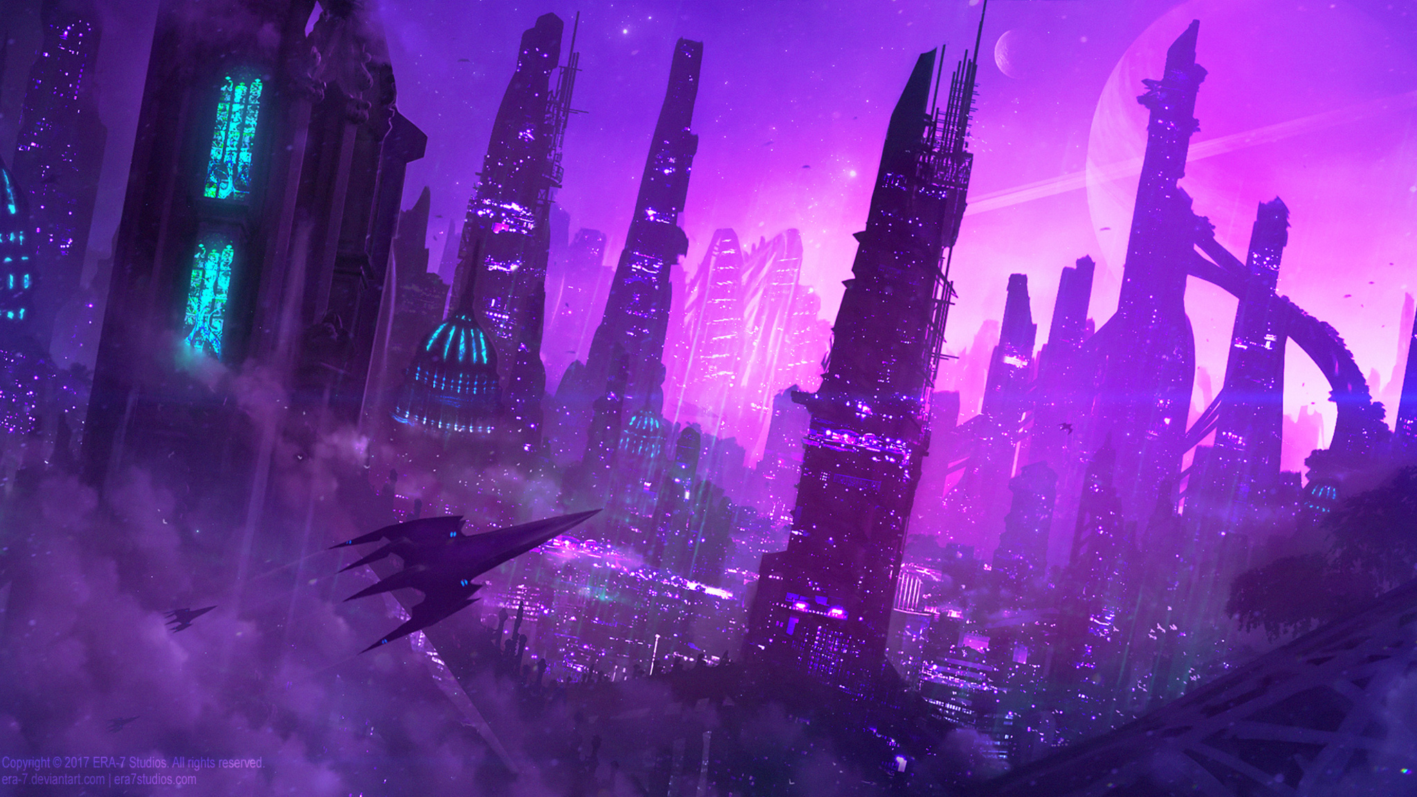 2048x1152 Aliens City 2048x1152 Resolution Hd 4k Wallpapers