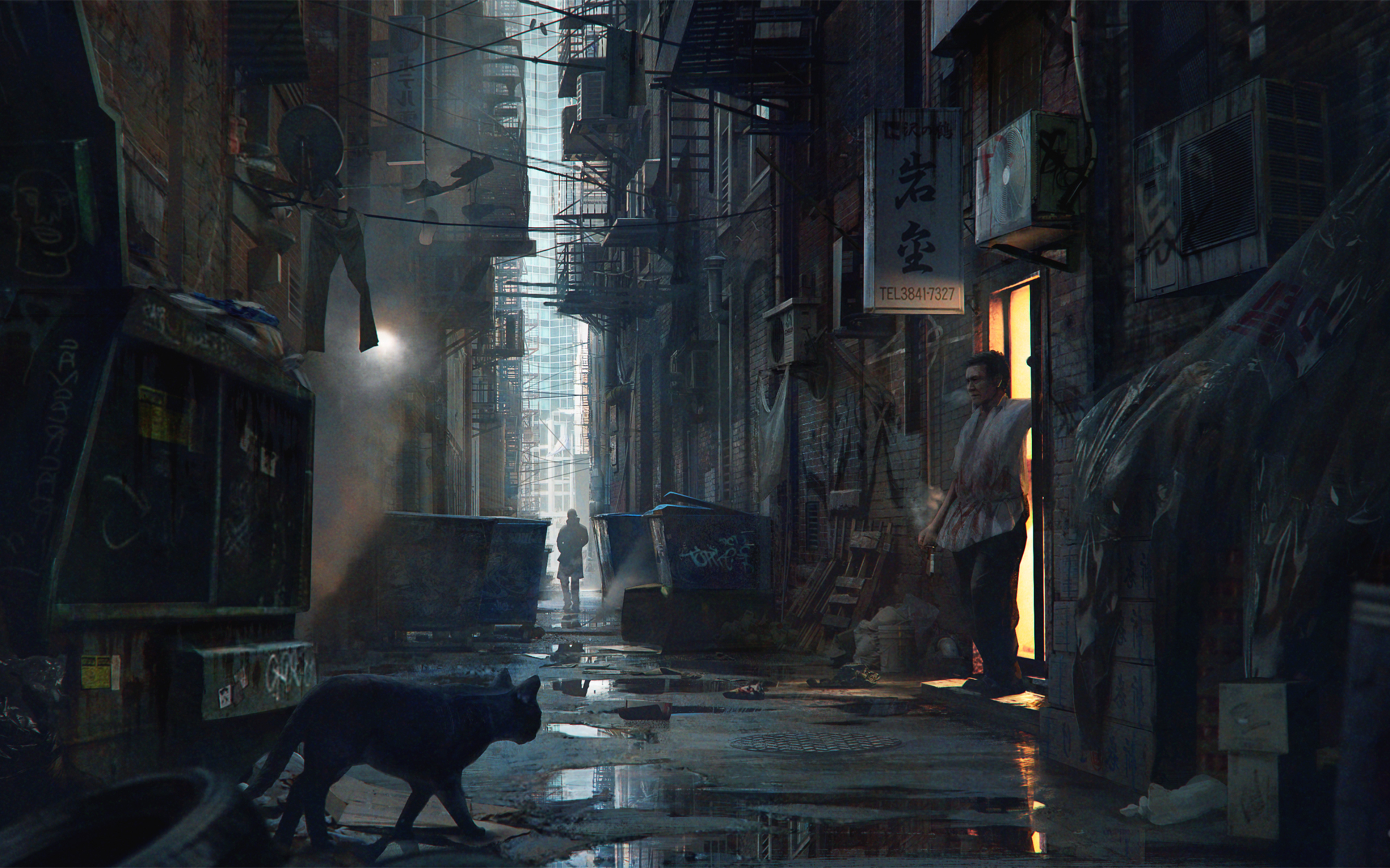Detroit Become Human Desktop Wallpaper: 3840x2400 Alleyway Detroit Become Human 4k HD 4k