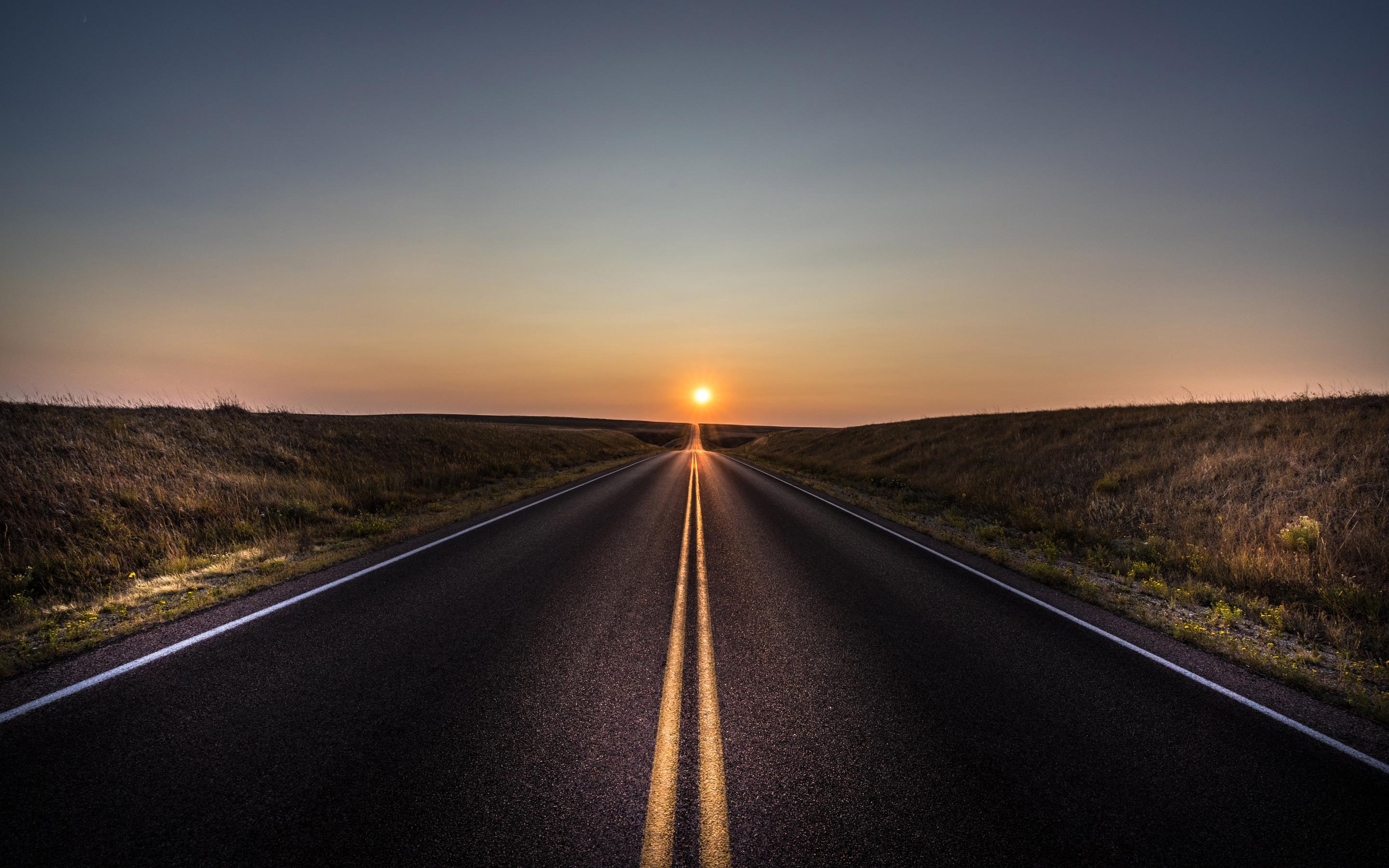 Дорога к закату  № 1568254 загрузить