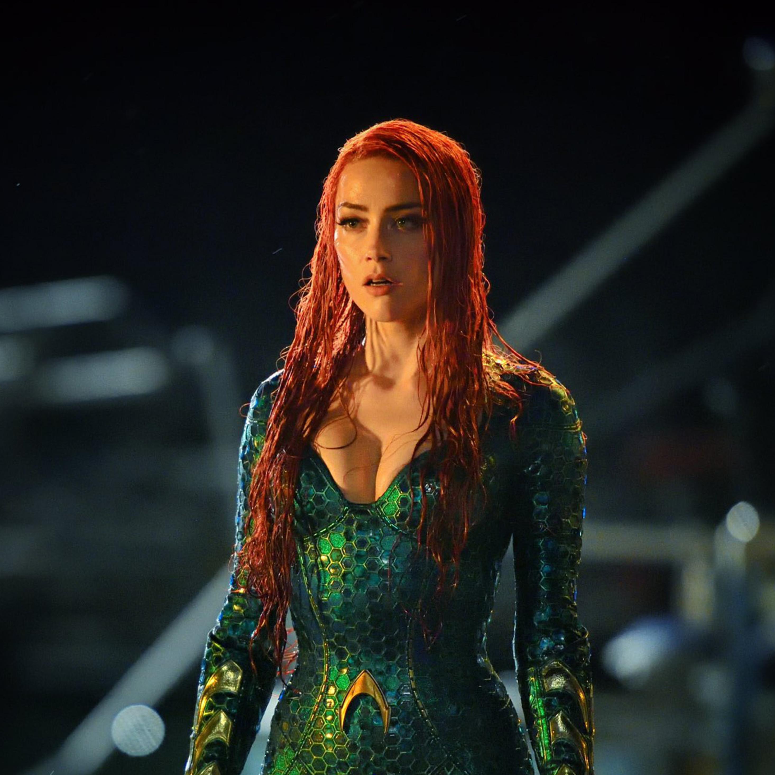 2932x2932 Amber Heard As Mera In Aquaman Ipad Pro Retina