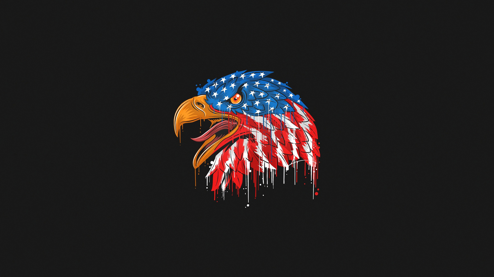 2048x1152 American Flag Eagle Minimal 4k 2048x1152 Resolution Hd