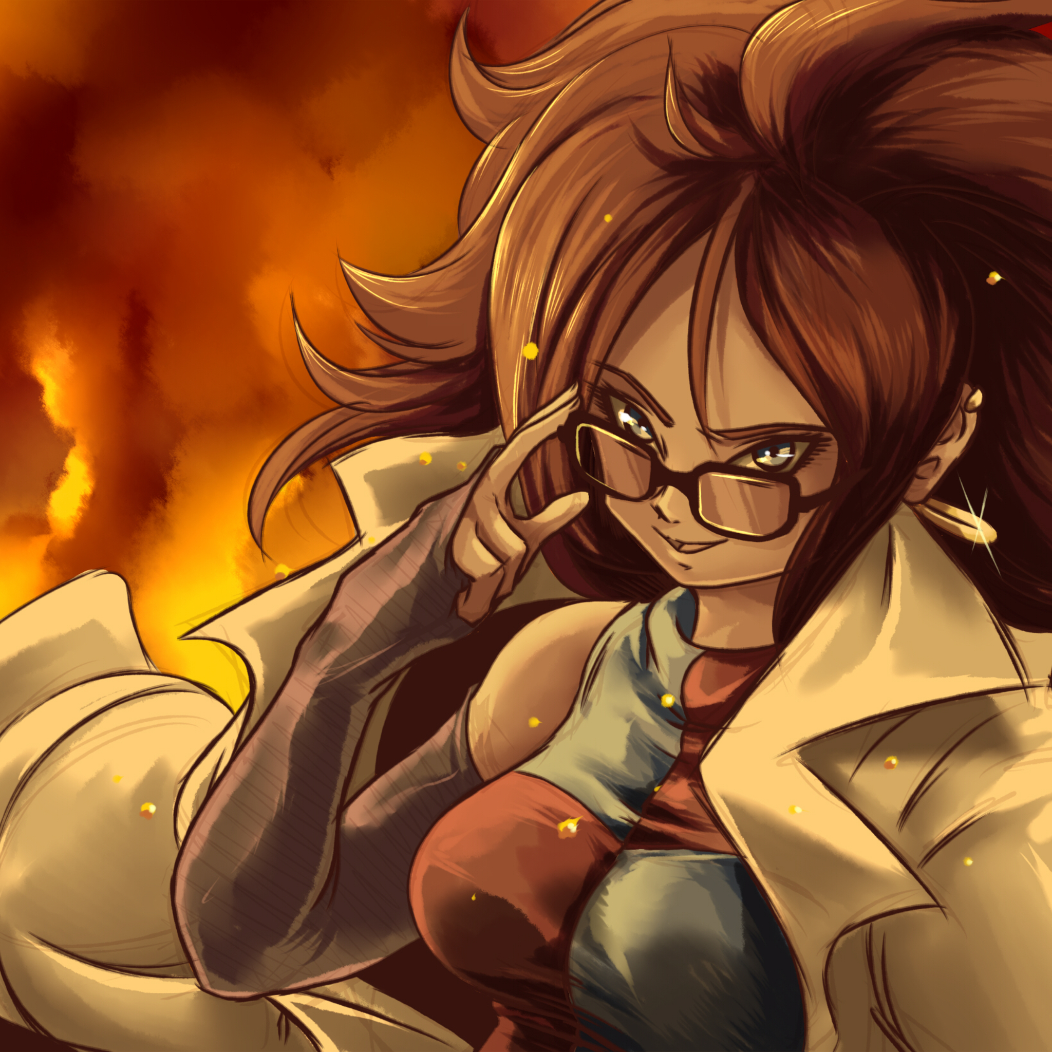 Dragon Ball Android 21: 2048x2048 Android 21 Dragon Ball Fighterz Ipad Air HD 4k